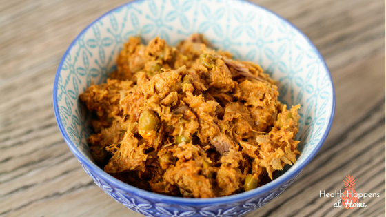 Tuna Curry Recipe. #thereciperedux Read now or pin for later - Health Happens at Home.