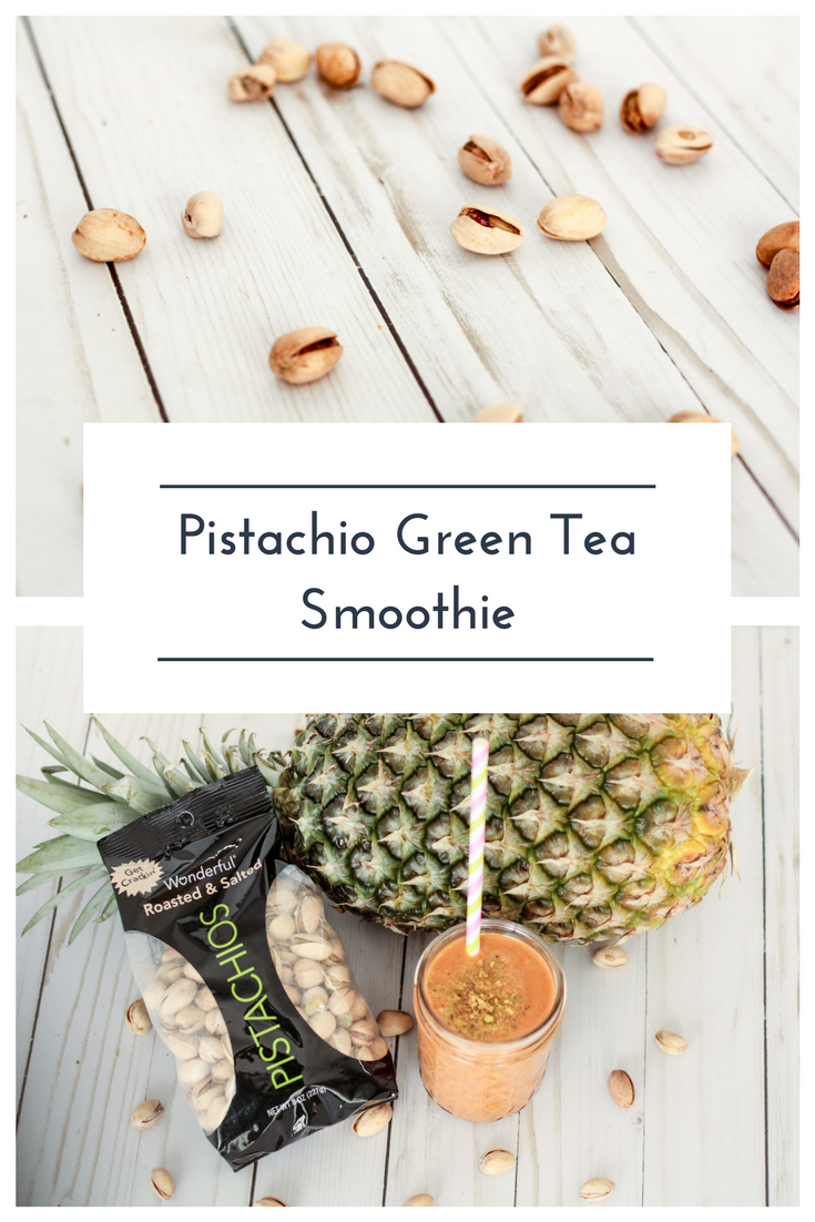 Pistachio Green Tea Smoothie Recipe. Read now or pin for later. - Health Happens at Home. #sponsored