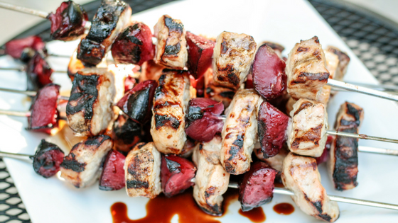 Simple Pork and Plum Kebab Recipe. Read now or pin for later. - Health Happens at  ome