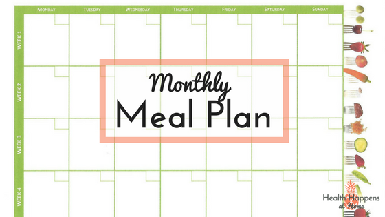 August 2018 Meal Plan with recipe links. Read now or pin for later. - Health Happens at Home