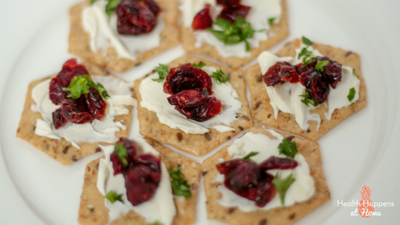 Cranberry and Cream Cheese Cracker Recipe. Delicious, quick snack. Read now or pin for later. - Health Happens at Home