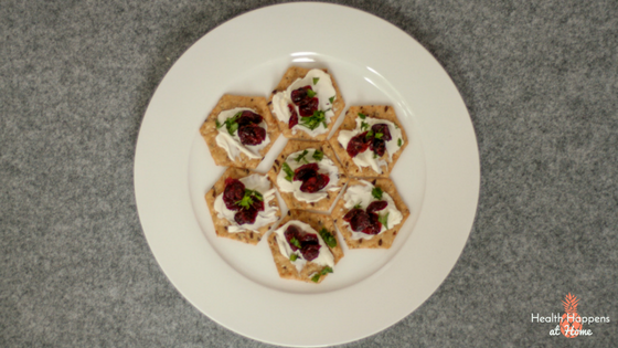 Cranberry and Cream Cheese Crackers Recipe. A delicious and quick snack. Read now or pin for later. - Health Happens at Home