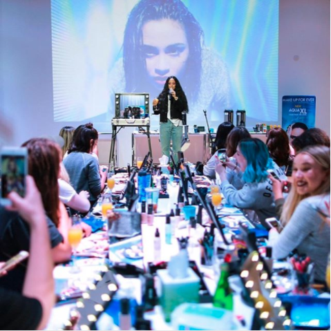 Bratty B Meets Kehlani with Make Up For Ever Canada for the Aqua XL Artist Color Paint Collection