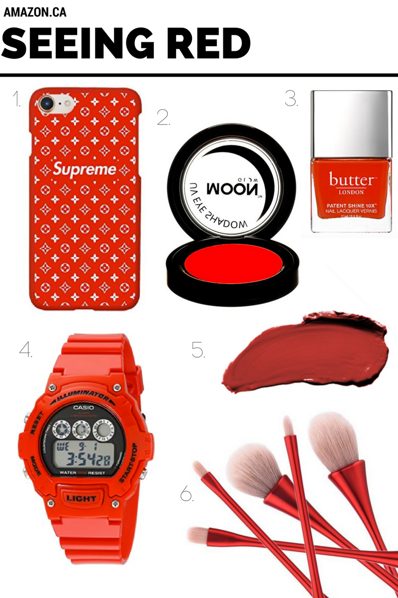 Seeing Red A Wishlist of Red Beauty and Style Items from Amazon.ca created by Toronto Style Blogger, Bratty B