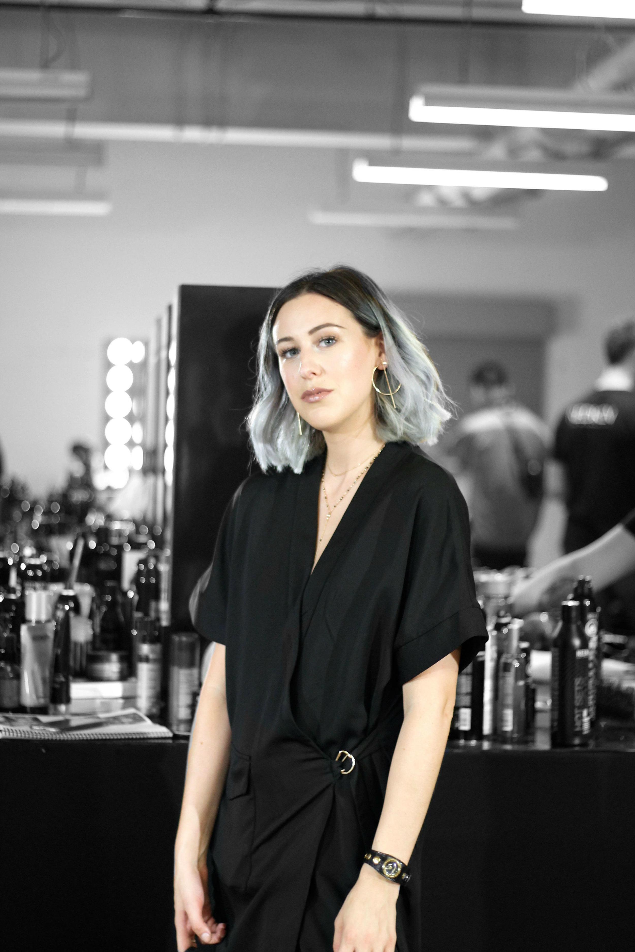 Amy Mckissock Backstage with Redken at Toronto Women's Fashion Week