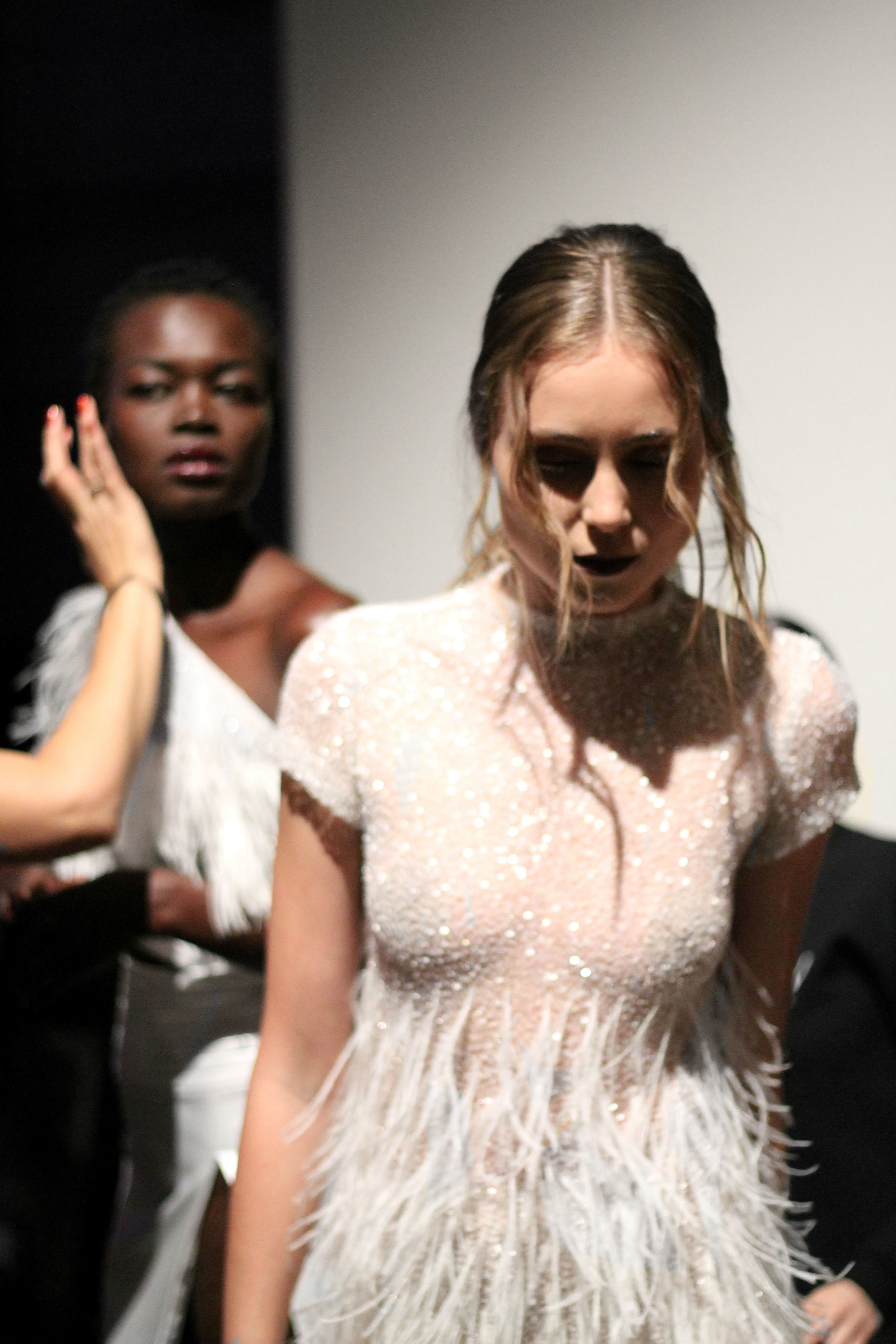 Models Backstage at Toronto Women's Fashion Week
