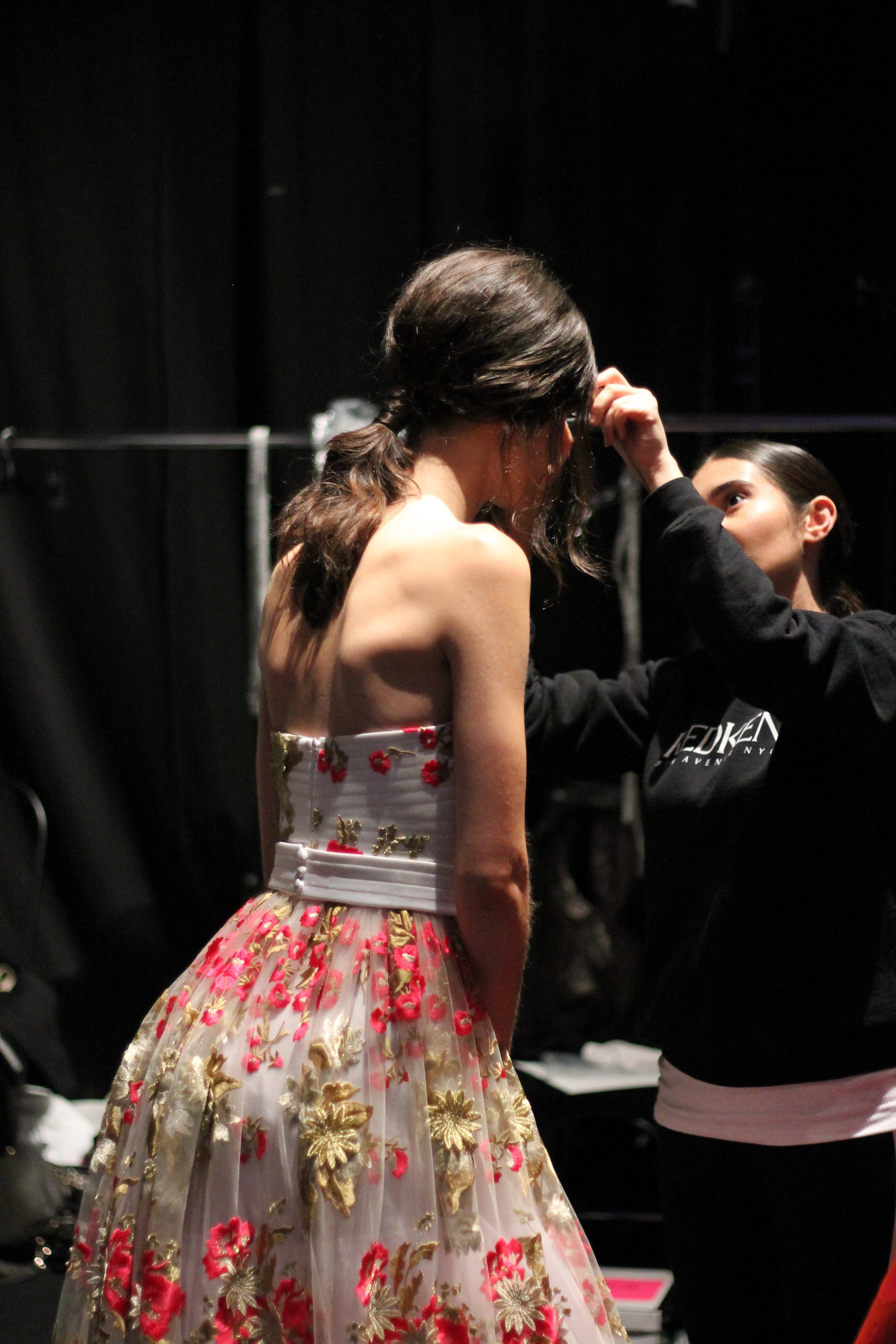 Redken Stylists get Models Ready for Stephan Caras at Toronto Women's Fashion Week