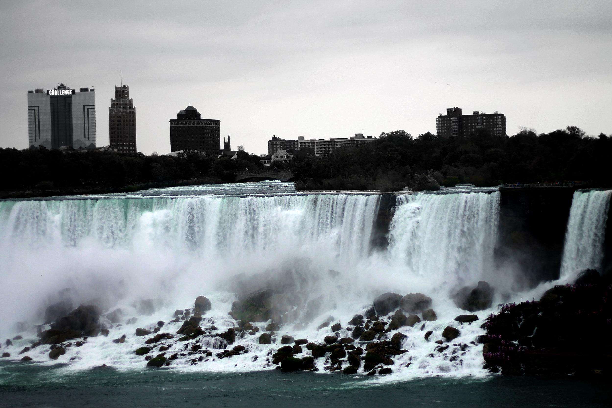 The American side of Niagara Falls, ON Canada taken by Bratty B