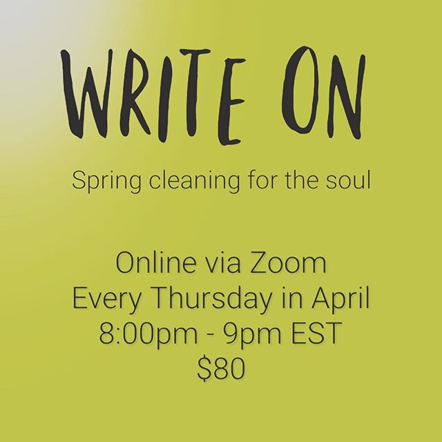 Join me every Thursday in April for an hour of writing what's on your heart with other likeminded women. Stay in the comfort of your home/in your jammies/unshowered/hiding from your kids/partner/pets. It's connection, community and a chance to speak your truth out loud. We are all more alike than we are different. 💗