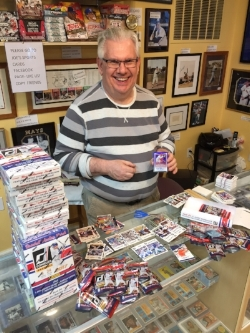 Sports cards, wax packs and boxes, supplies for protecting your collection and memorabilia of all kinds.