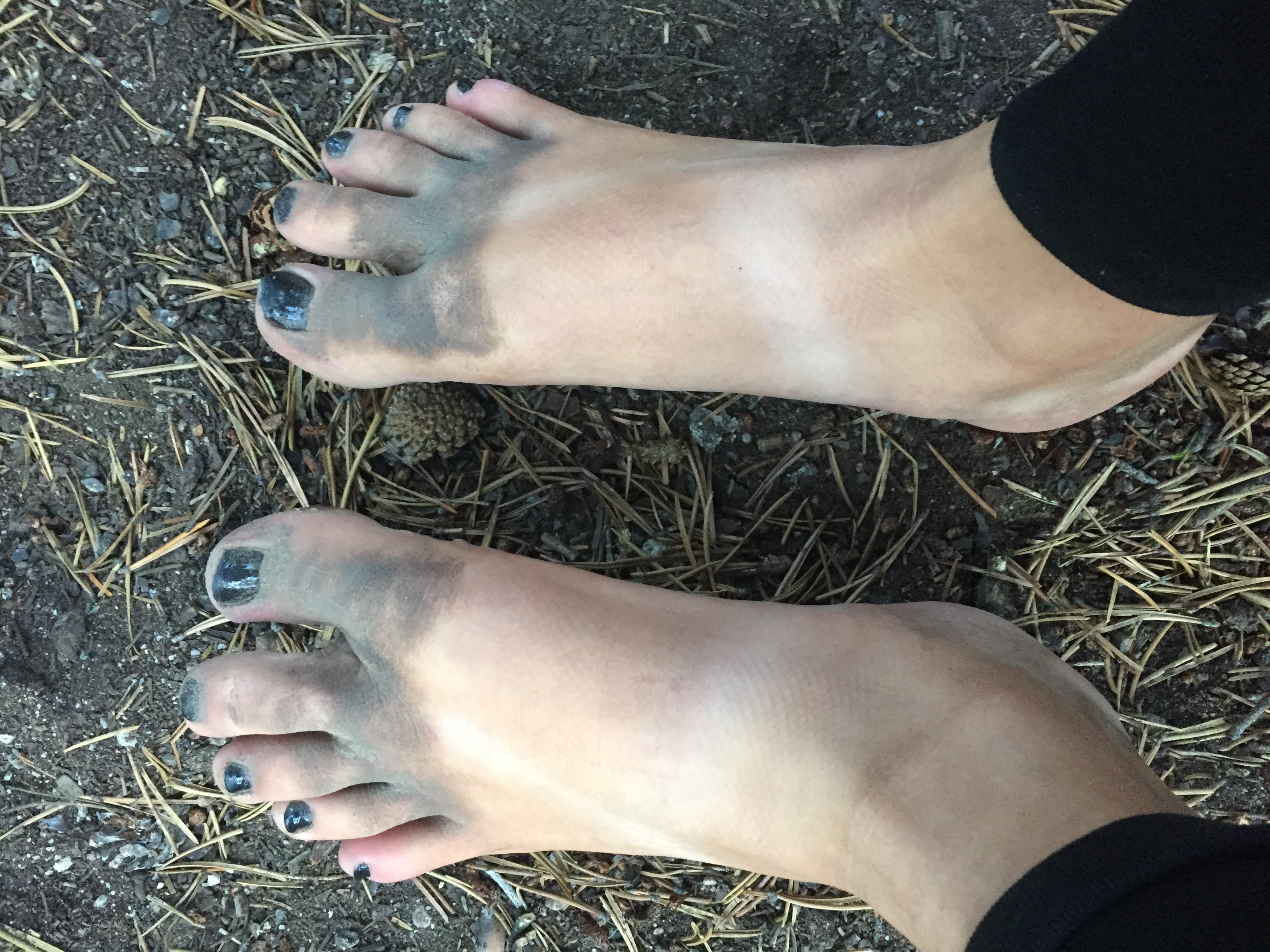 My feet at the end of the day. That dirty even with shoes. The Sierras are full of sand. That's something you never hear about, but it was terrible.