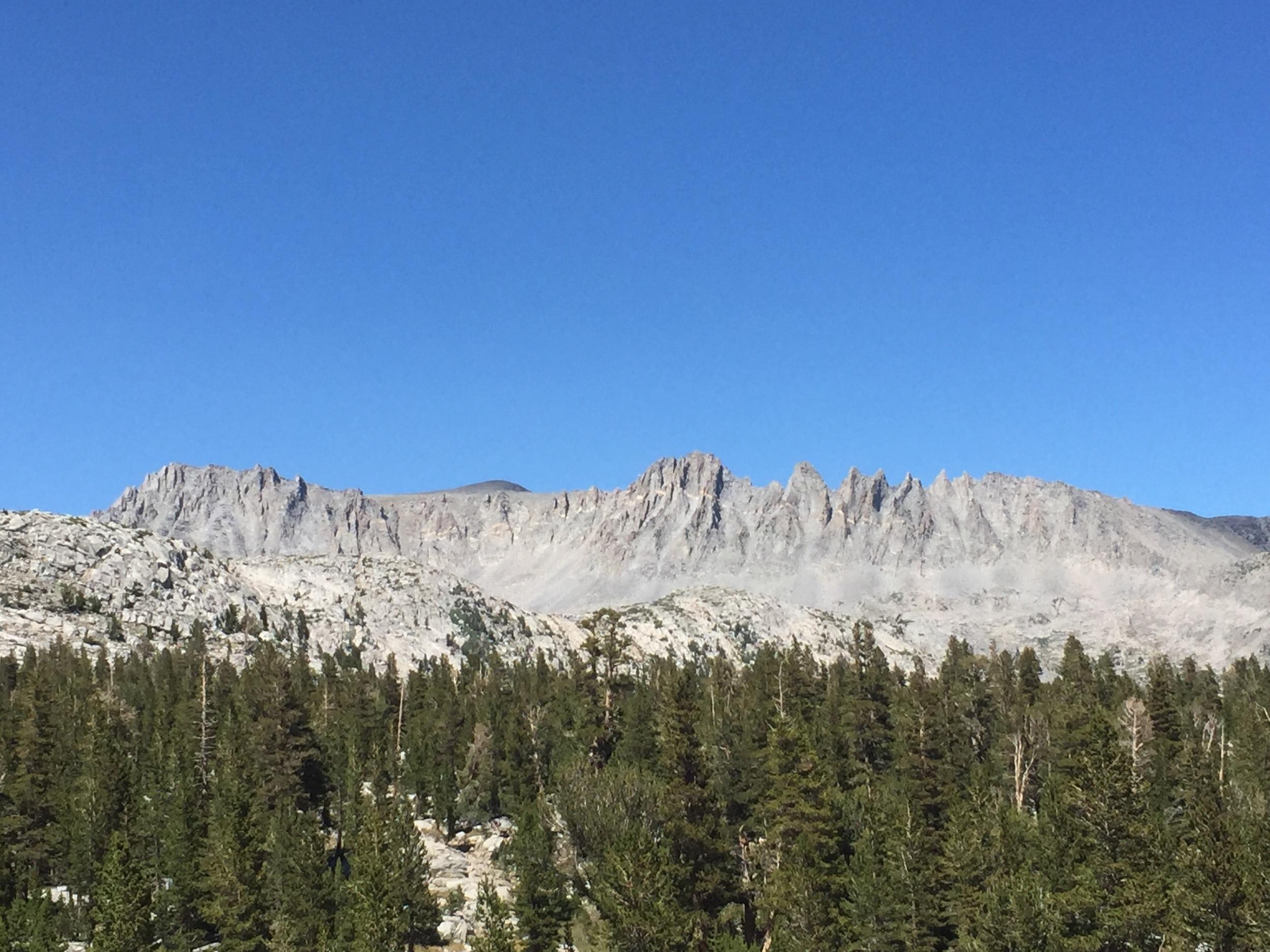 Wall of granite.