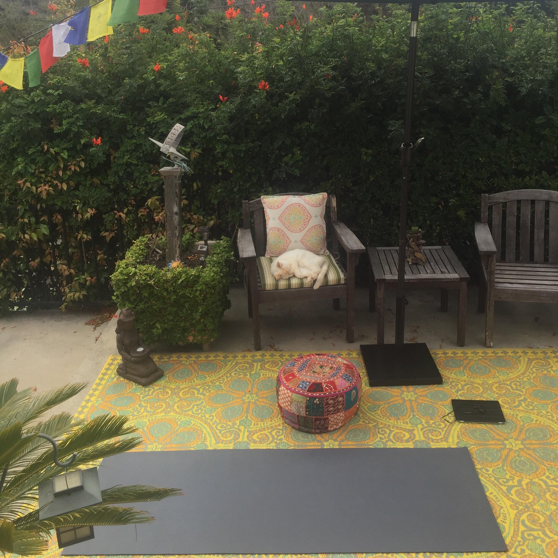 Peaceful patio.