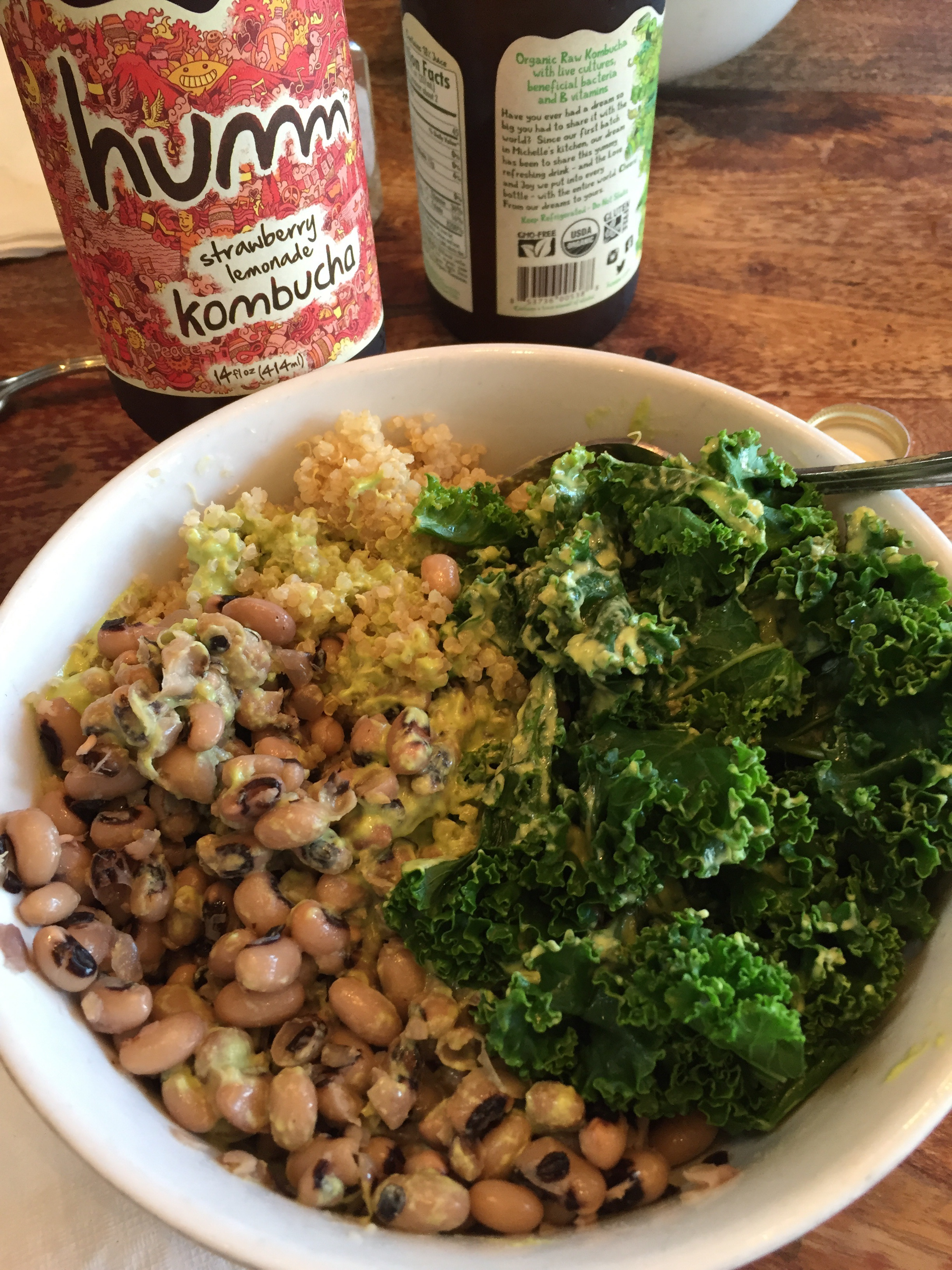 Health and Happiness at Prasad in Portland. Black eyed peas, rice, and greens. This is goodness!