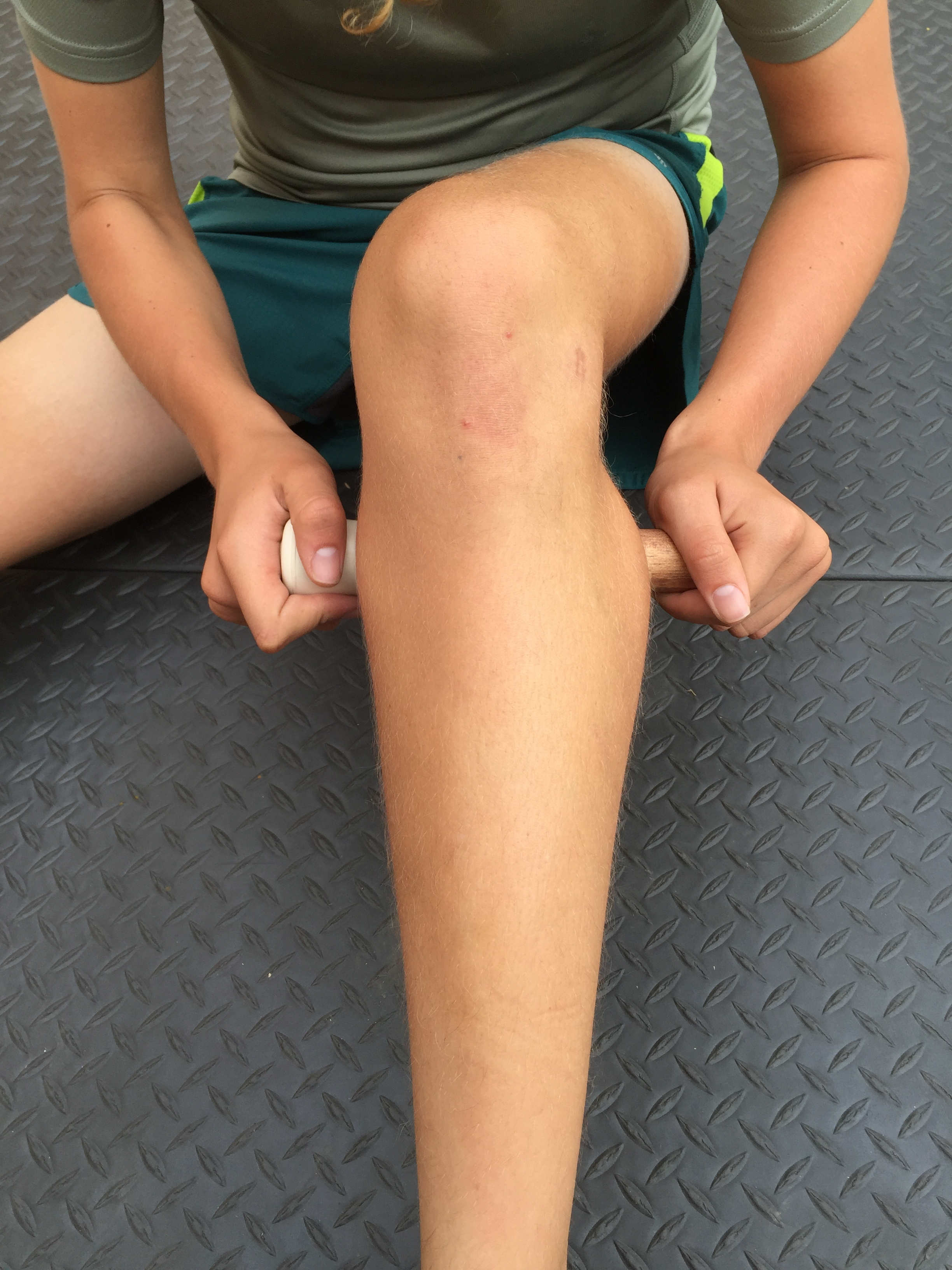 Calf: - As runners the calves can become extremely tight. Running from behind your knee to your foot the calve muscles need to be massage cautiously. And never massage directly on your Achilles tendon,an extremely sensitive area.