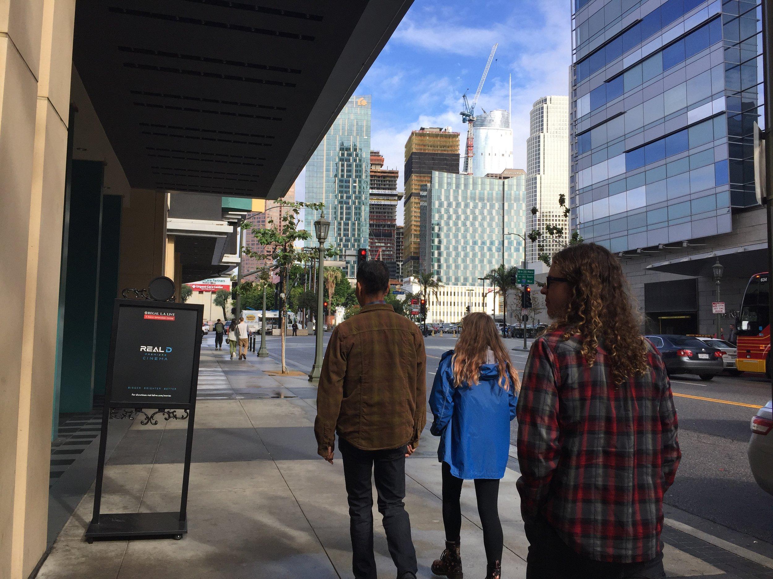 Walking in LA.