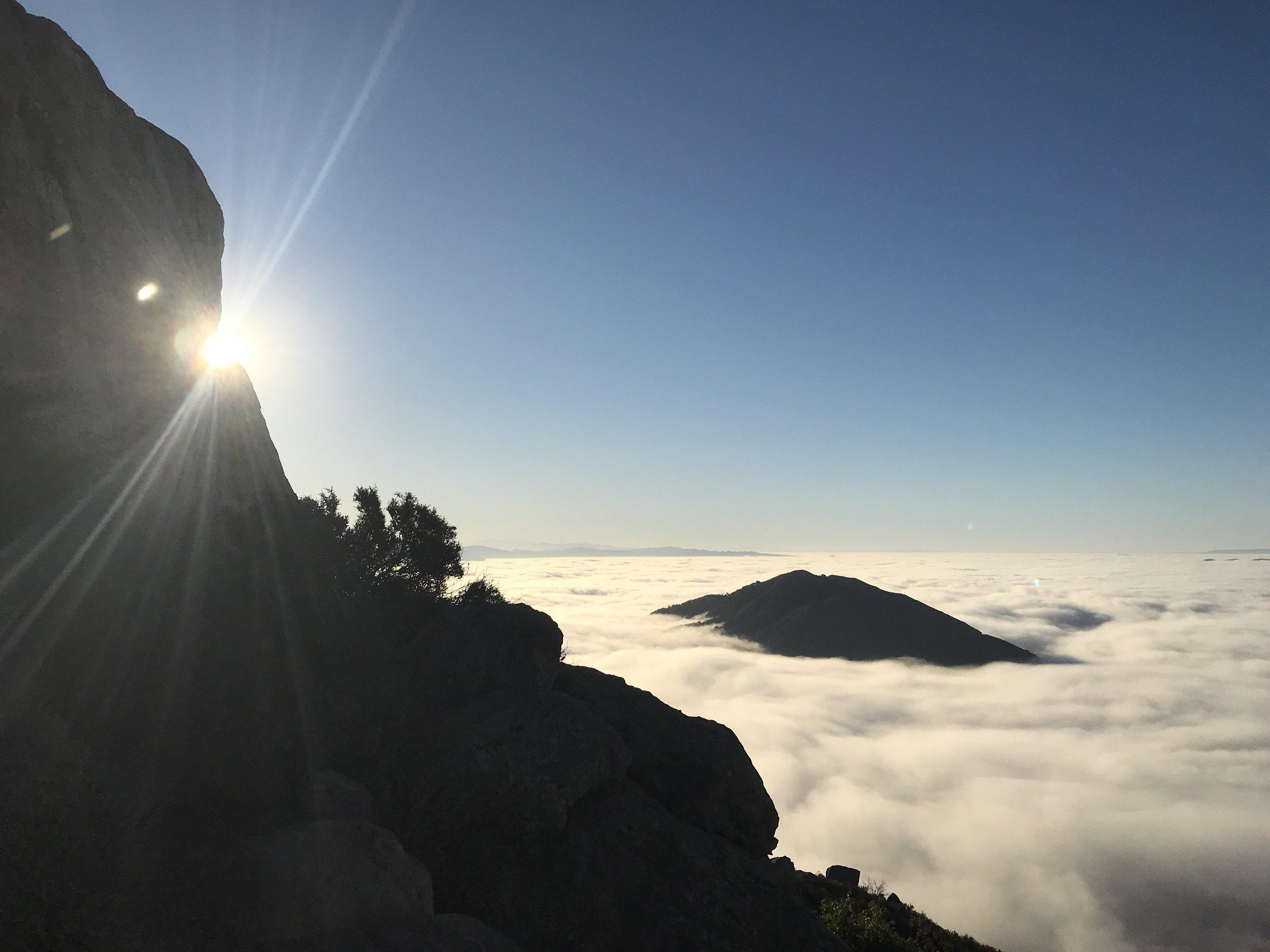 Views from the Peak, looking out towards Cerro San Luis Obispo.
