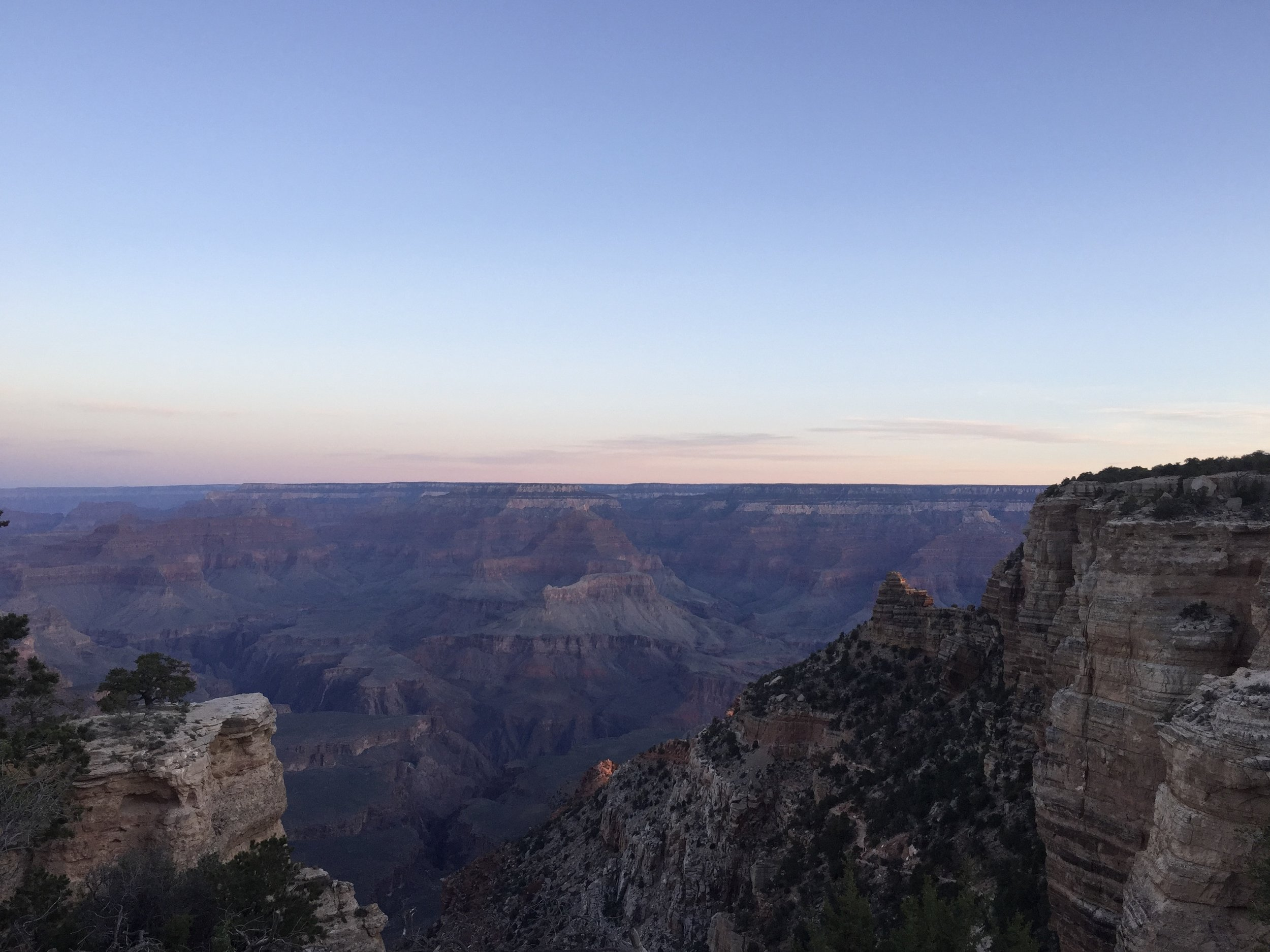 The benefits and beauty of arising early, a sunrise over the Grand Canyon. (March, 2015)
