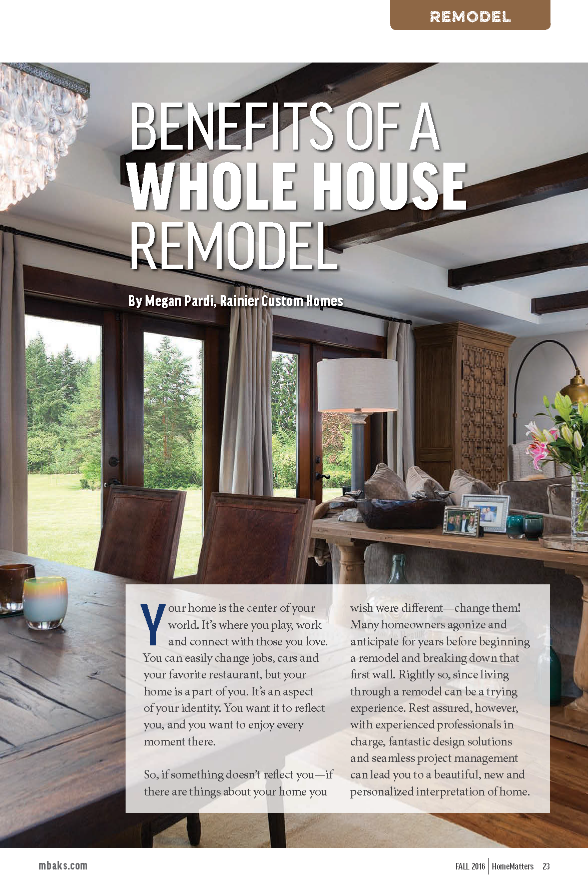 Home Matters Magazine Fall 2016