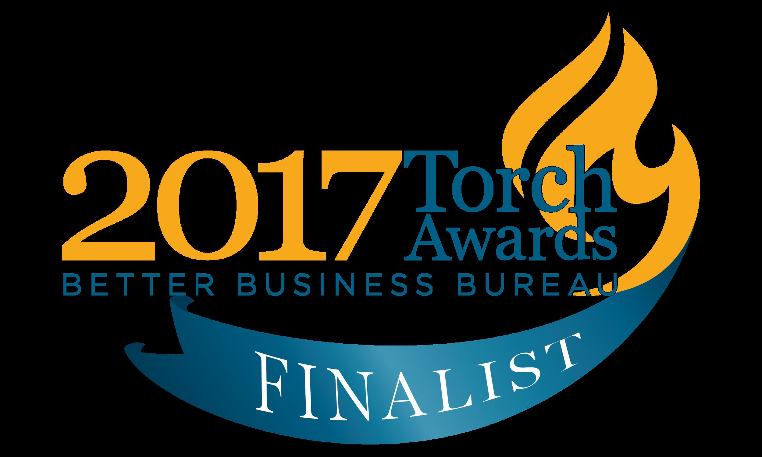 BBB Torch Ethics Award Finalist!