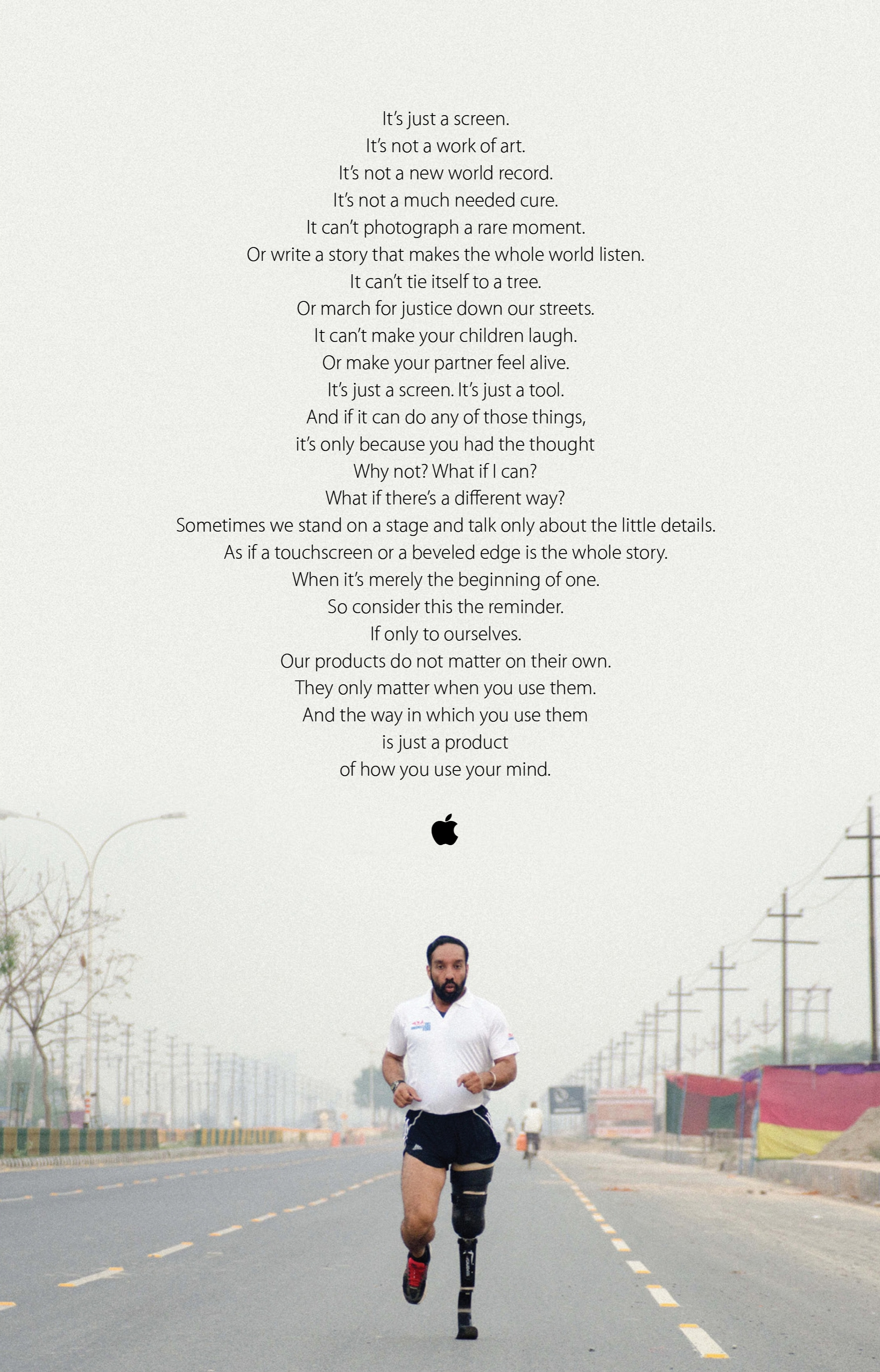 A brand manifesto for Apple. Written by me when I was ACD/CW at Media Arts Lab.