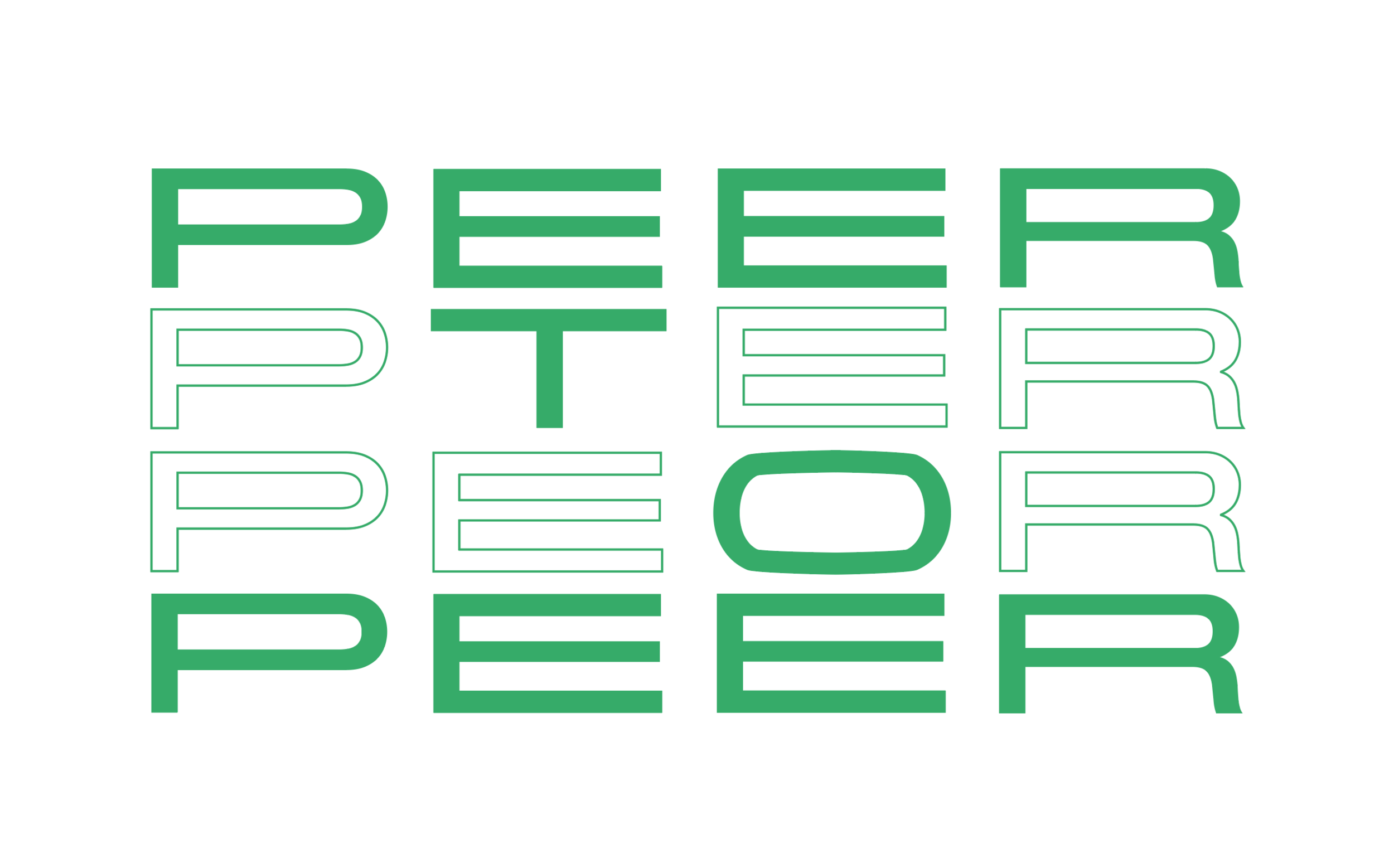 The brand identity and poster series I designed for the Bitcoin event, 'Peer To Peer'
