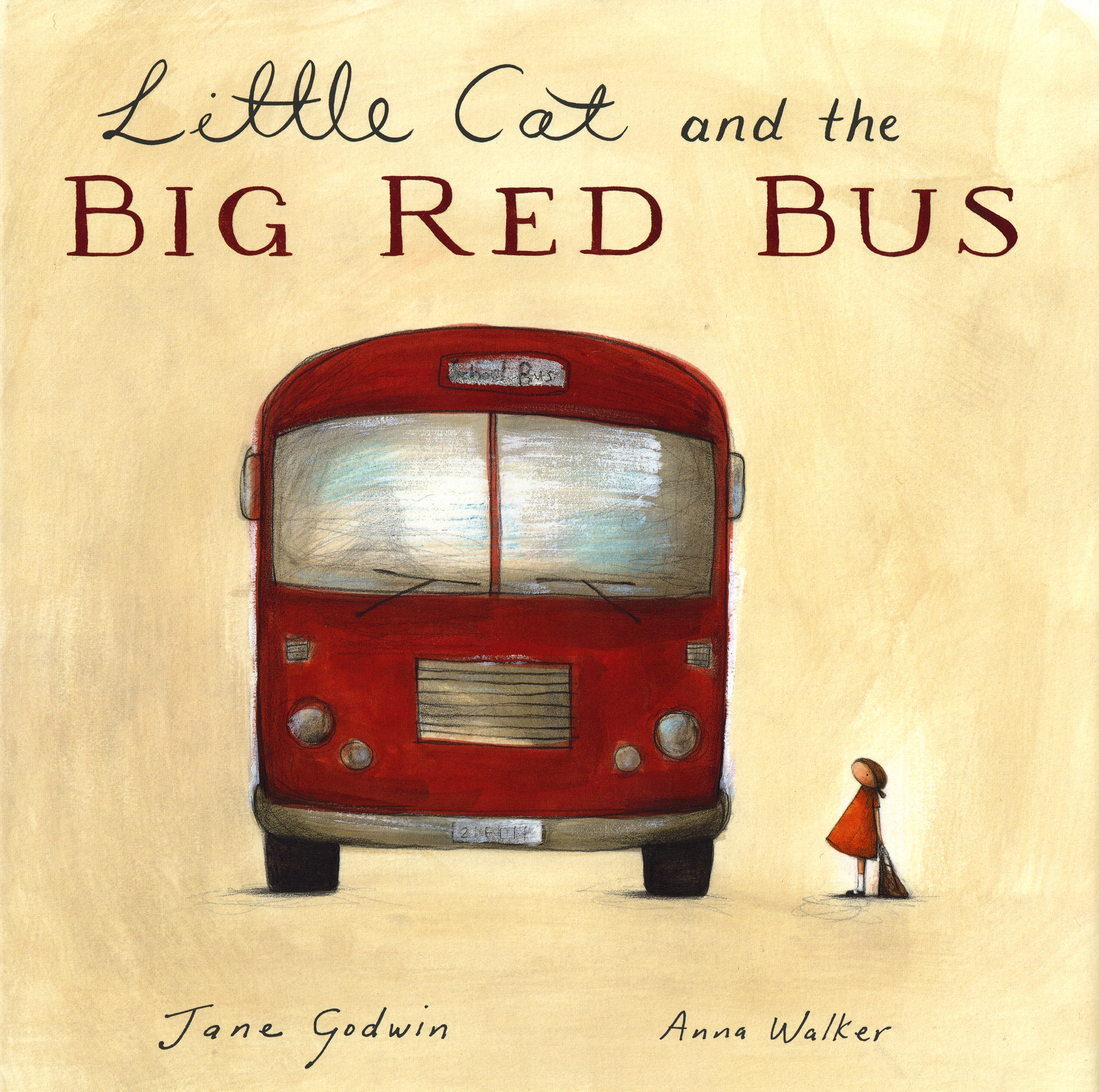 Little Cat and the Big Red Bus (illustrated by Anna Walker)  2008   Little Cat and the Big Red Bus   I used to visit lots of schools in the country and sometimes we'd talk about different experiences we'd had.    We talked about funny things, and unusual things, and embarrassing things, and sometimes scary things.    In the country, some of the kids lived quite a way from the school and they would spend a lot of time on the bus.    Everyone now and then, one of them would tell me about how he or she had fallen asleep on the bus, and this was where the idea for this story came from.        Little Cat and the Big Red Bus  was the first book I worked on with Anna.    When I showed her the story and asked if she would be interested in illustrating it, she said that she loved the story but she couldn't draw buses!    I'm glad she agreed to do it, and I think her buses are quite beautiful!