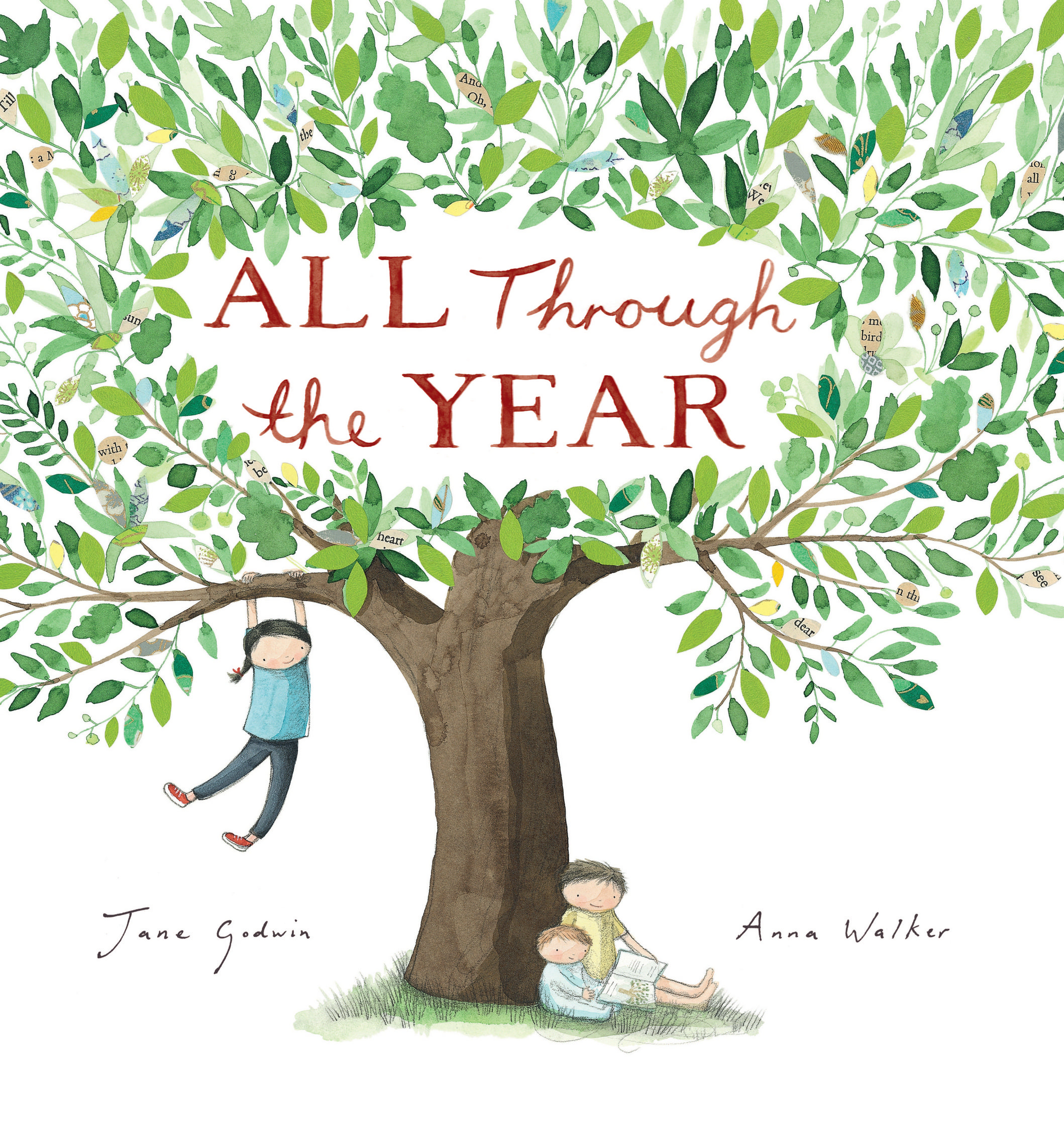 All Through the Year  (illustrated By Anna Walker)   All Through the Year   I always wanted to write a calendar book, and once I'd worked with Anna on  Little Cat and the Big Red Bus , I knew she was the person to illustrate it.    At first I thought I should include lots of different places and families so that the seasons and details would be relevant to everyone, but that felt a bit disjointed and didn't flow, so then I made it just one family and hopefully their experiences are universal enough to resonate with others.    This book is published in France, and in the French edition they had to mix up the pictures so that the seasons worked for the northern hemisphere!    They start in January with Anna's picture from the July page!