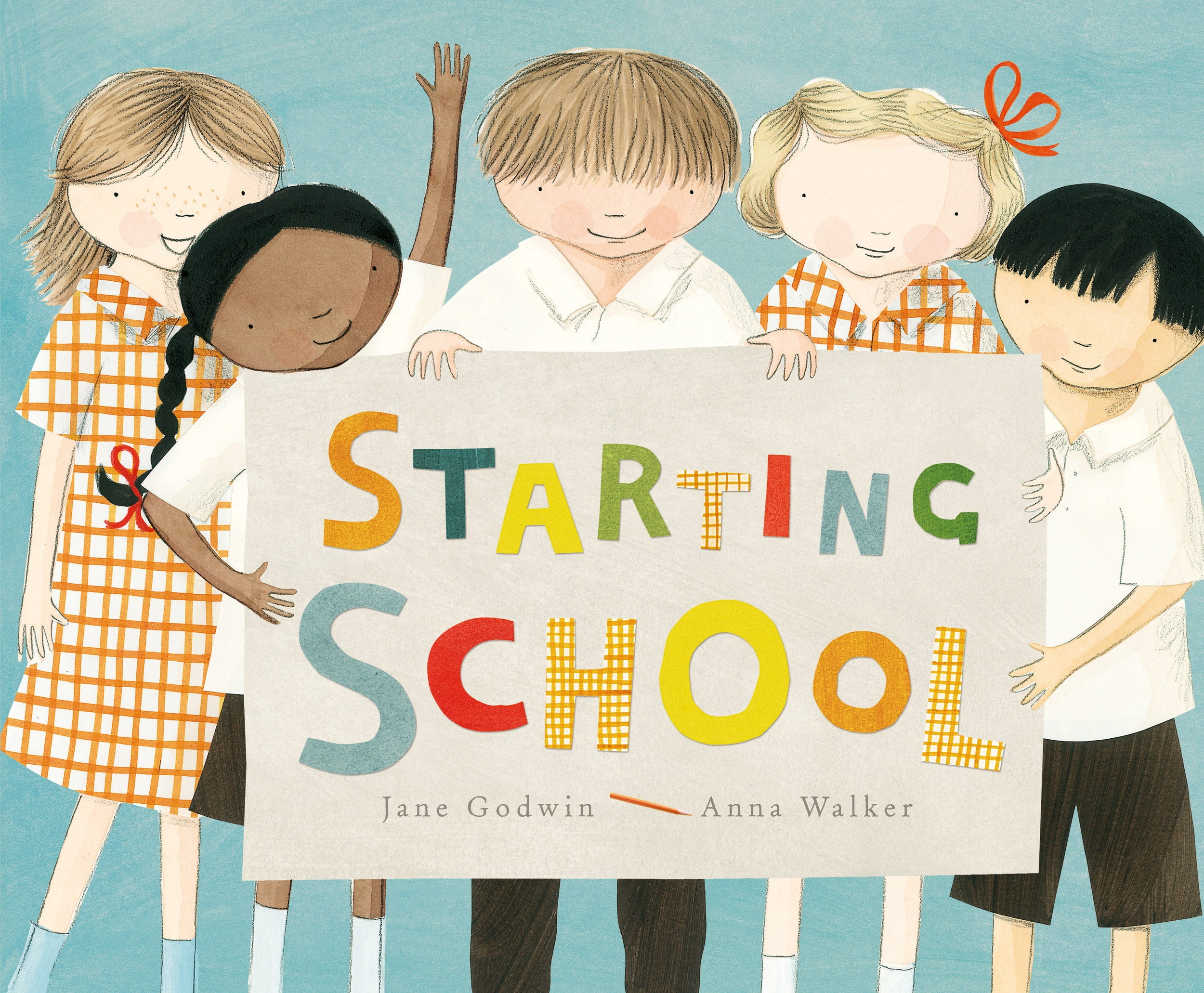 Starting School  (illustrated by Anna Walker)  September 2013   Starting School   When my daughter Lizzie was in prep (in 1988!), I made a book with her and her friends.    It was all about starting school.    We talked about different aspects of the first year at school, like the very first day, and making friends, and playing outside, and all the things they learned.    I kept that book, and I still have it today.    So when Anna and I came to make a book about starting school, I got that old book out and our book is loosely based on the book I made with Lizzie and her friends all those years ago.