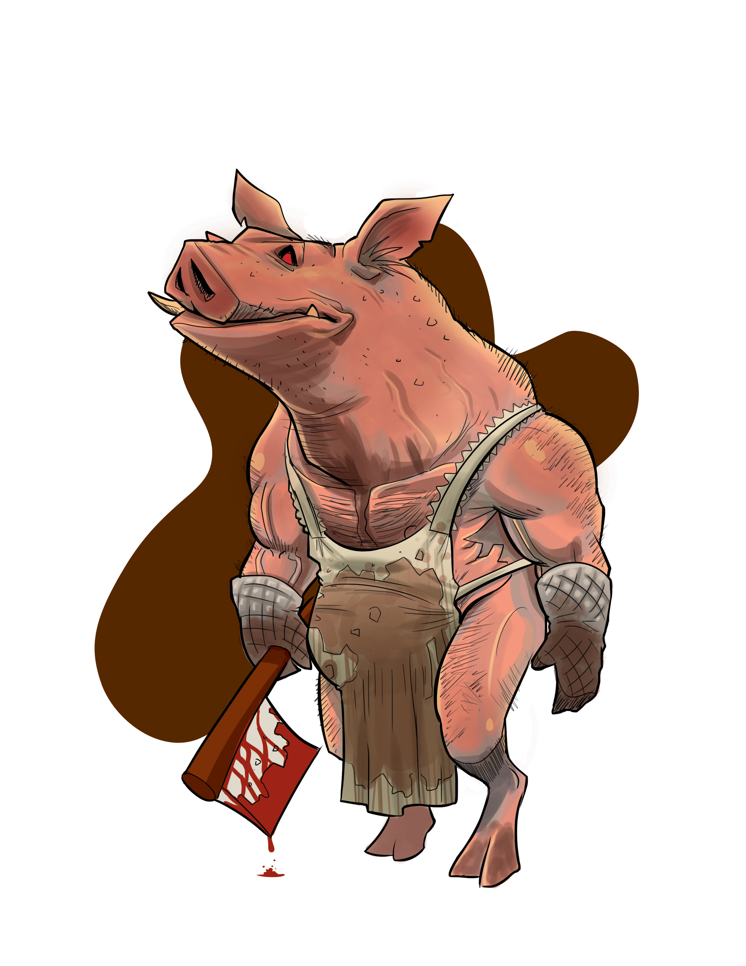 """The Pig Man""   Midnight Massacre Character Design"