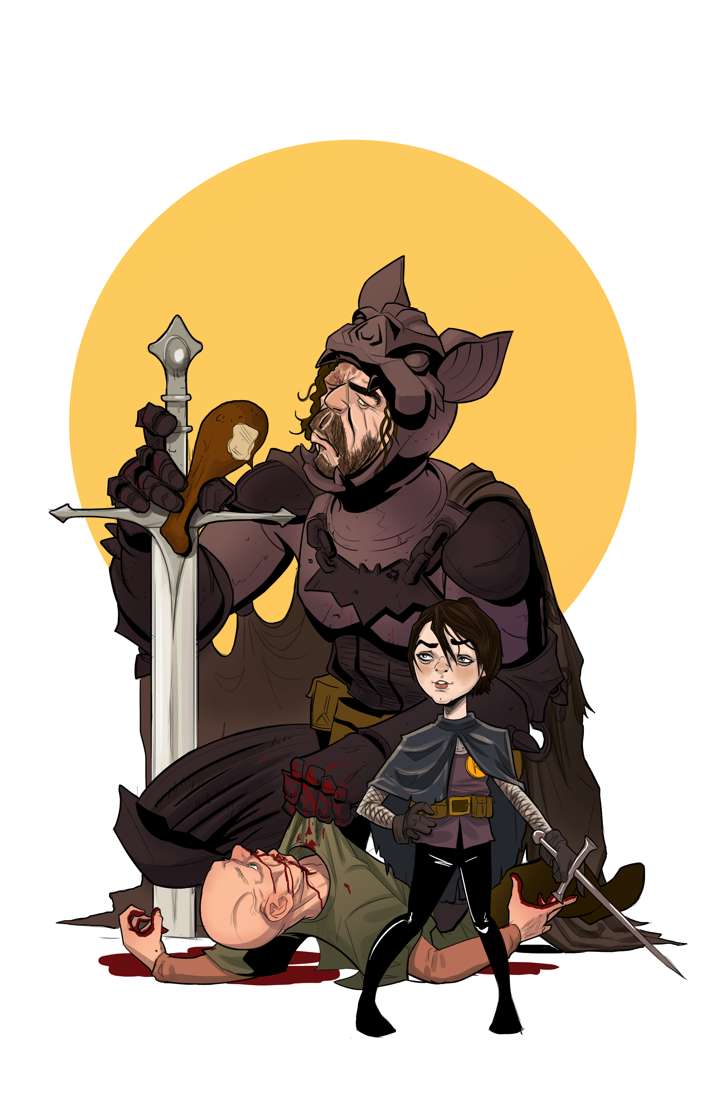 """The Hound and Arya as Batman and Robin"""