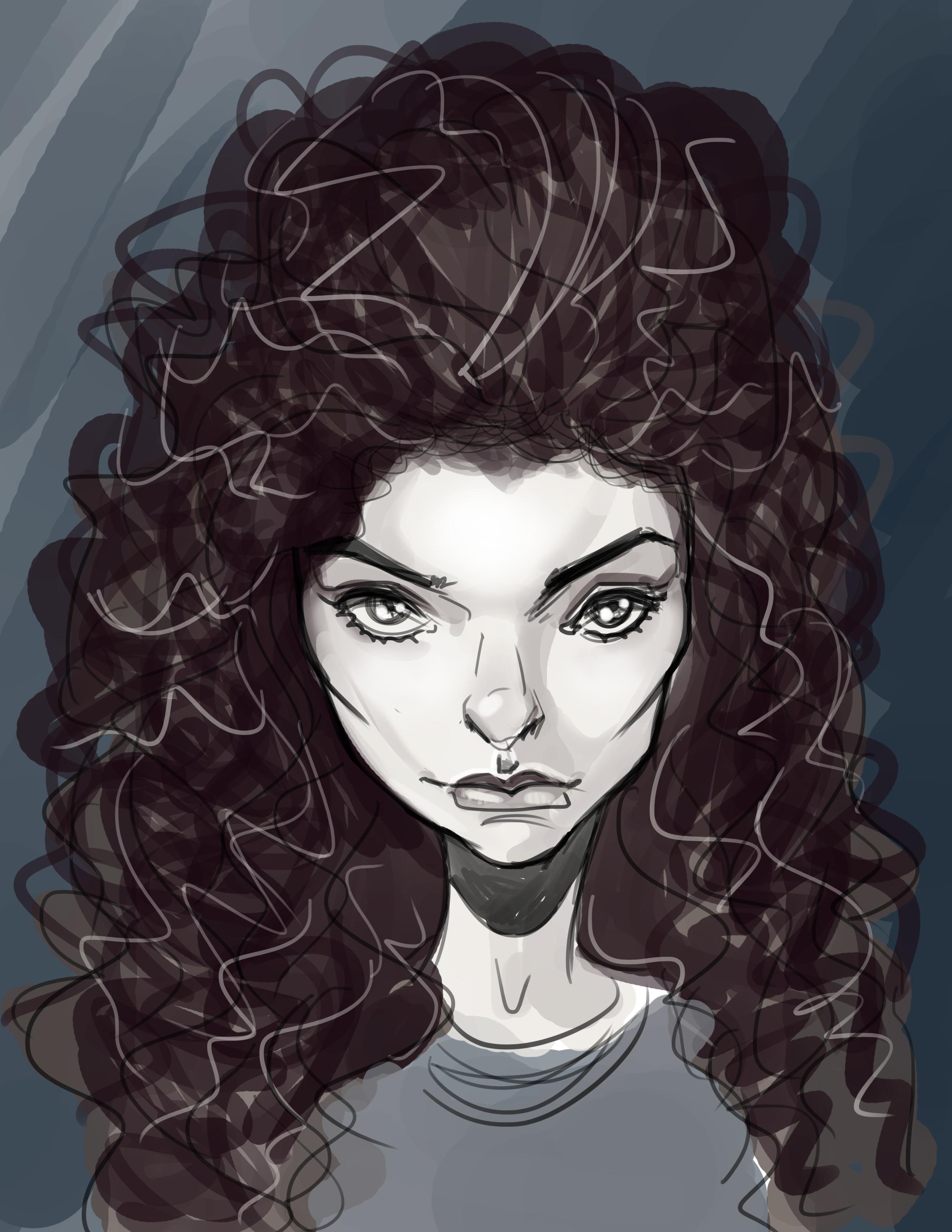 """Lorde""   Caricature"