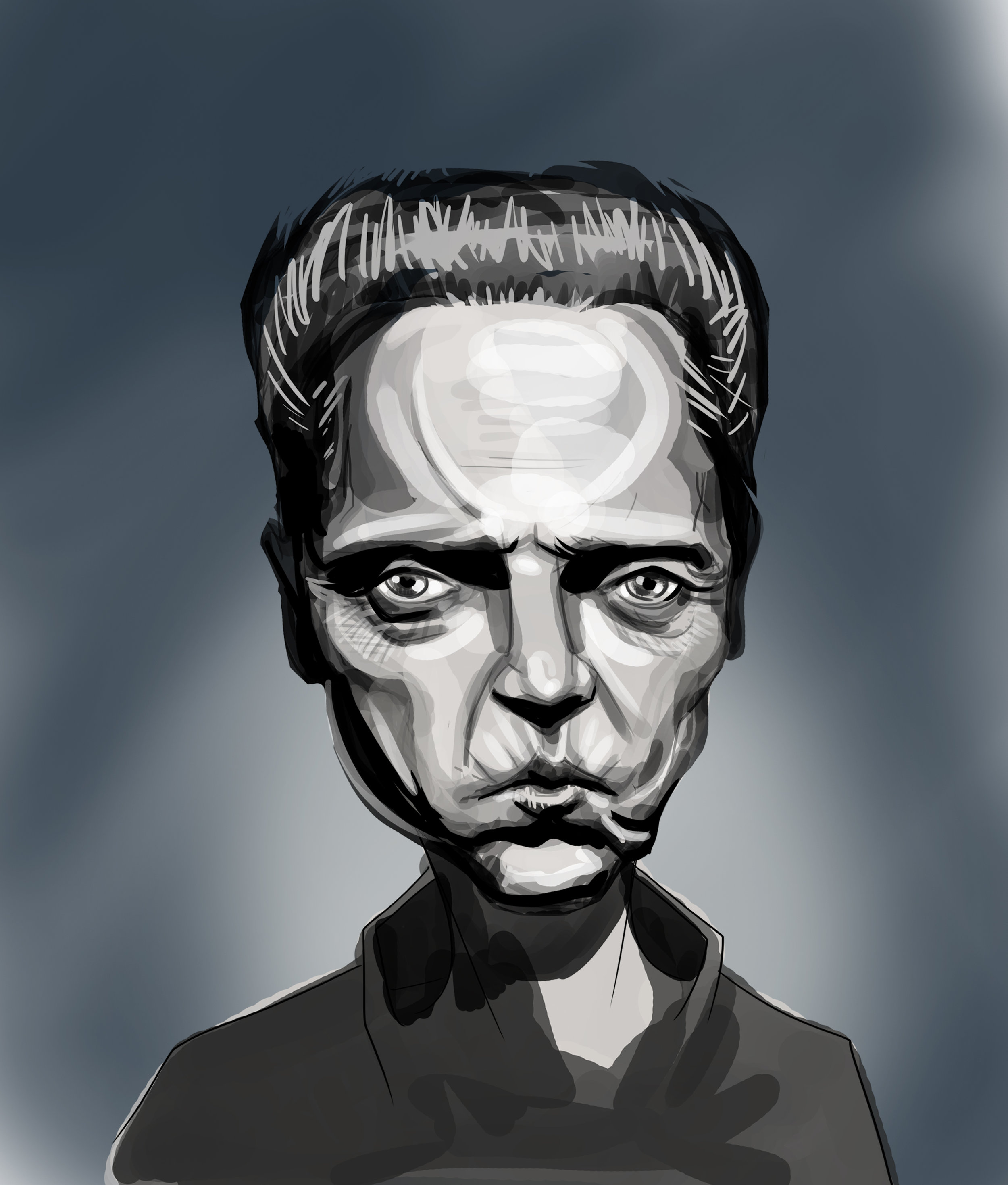 """Chris""   Caricature of the legend, Christopher Walken."