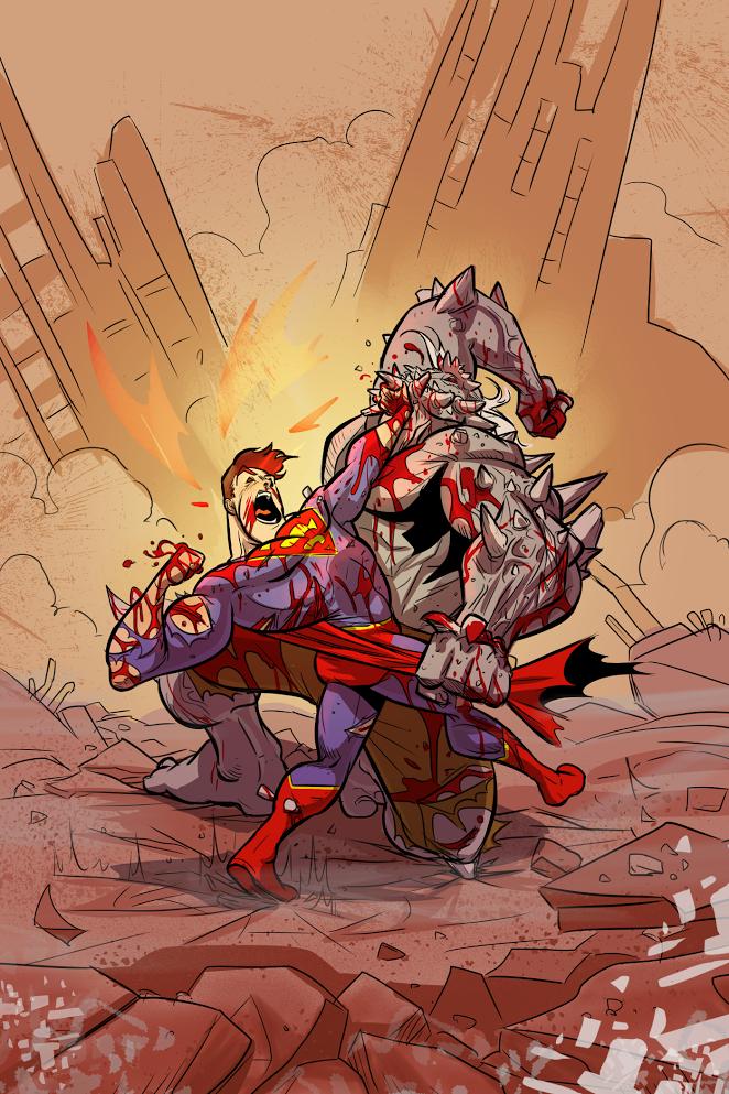 """Superman v Doomsday"" by Ben Matsuya"