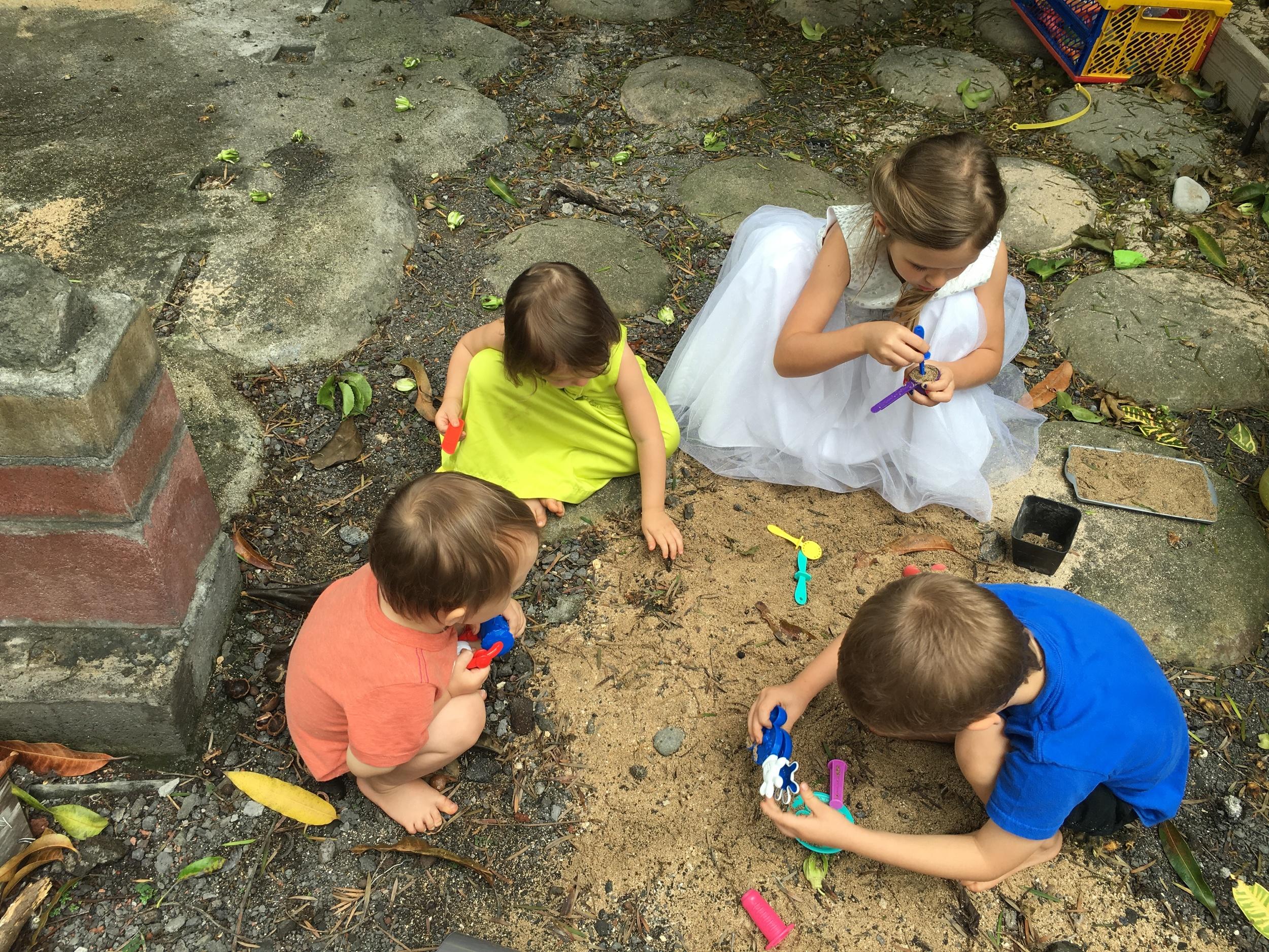 My kiddos playing together.