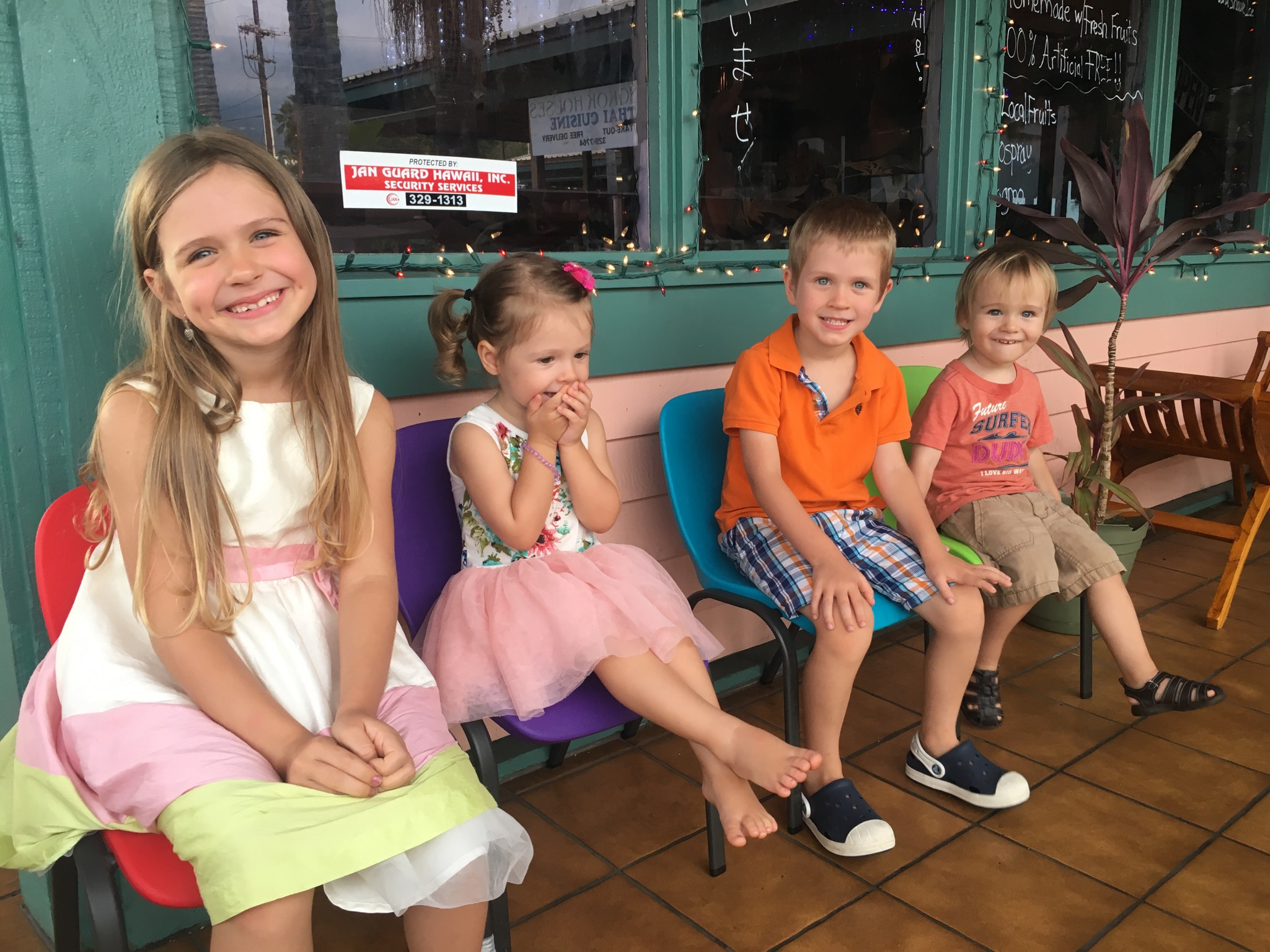 My kiddos on one of our last days in Hawaii. (Thanks Lucy and Nastya for taking them out for ice cream!)
