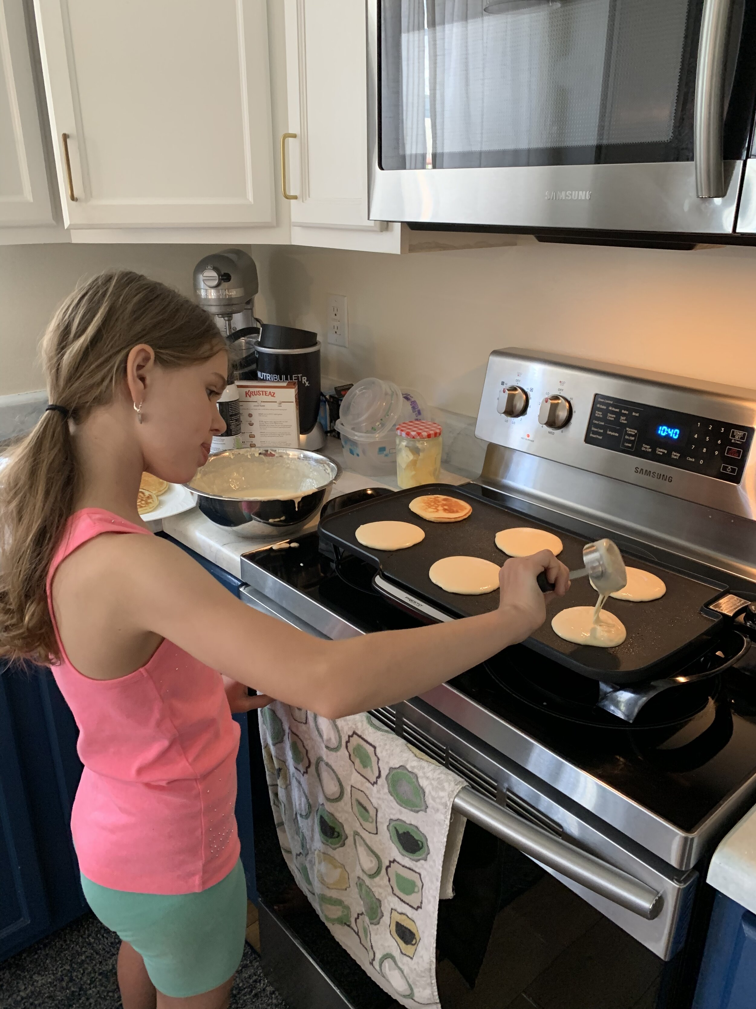 I love waking up to the smell of her amazing, made from scratch pancakes. They are the best!