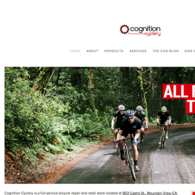 COGNITION CYCLERY SITE REDESIGN