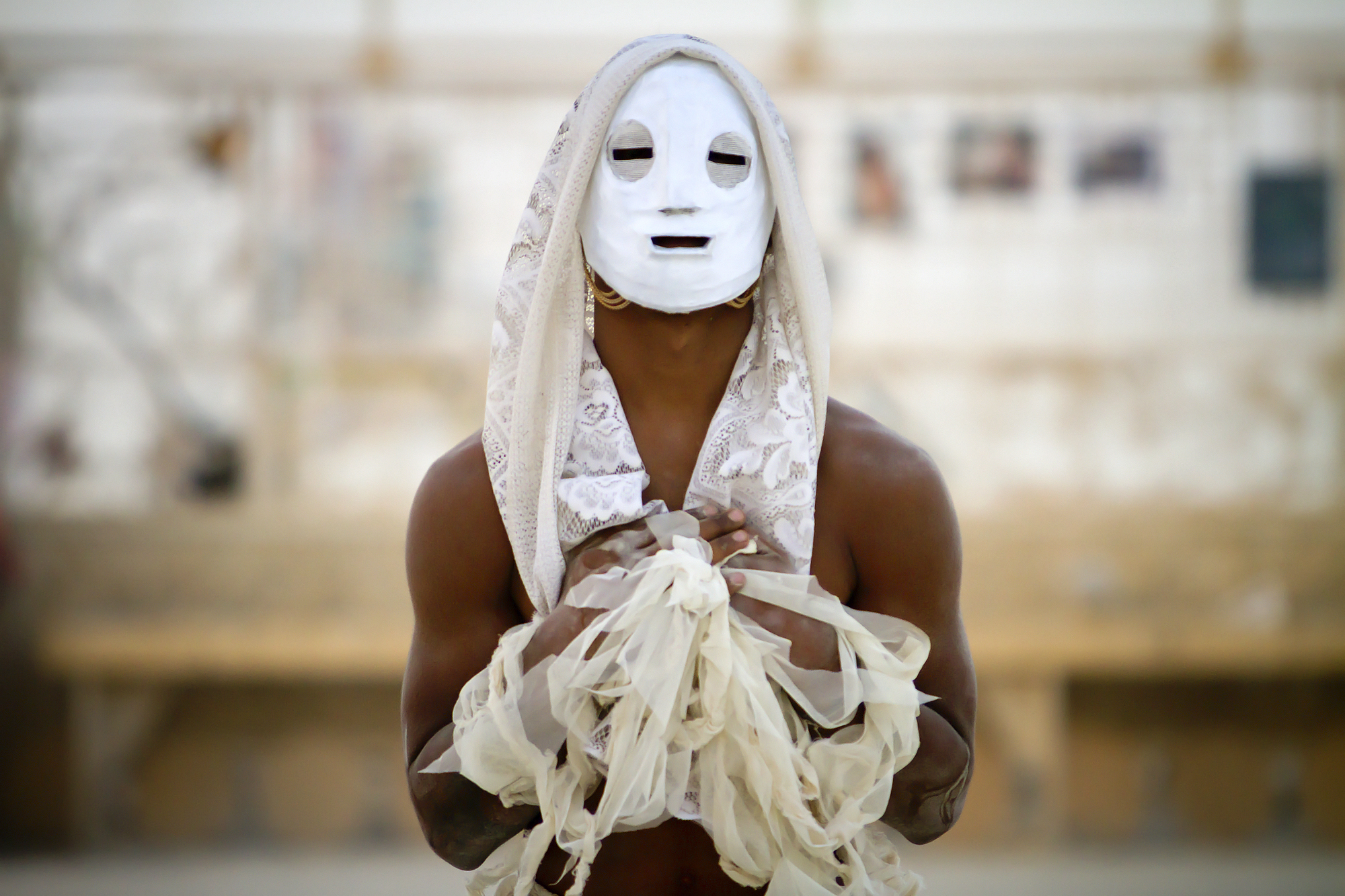 White Face mask performance, Black Rock City. 2012  photo © Scott London