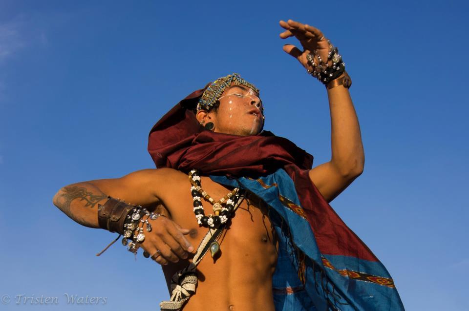 ceremonial dance at Burning Man, 2011  photo© Tristen W Waters