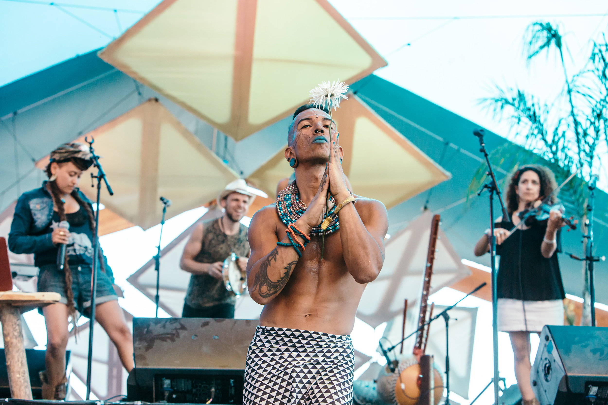 performing with Atasiea Ferguson for Climbing Poetree at Lightning in a Bottle 2017  📷 x Alyssa Keys