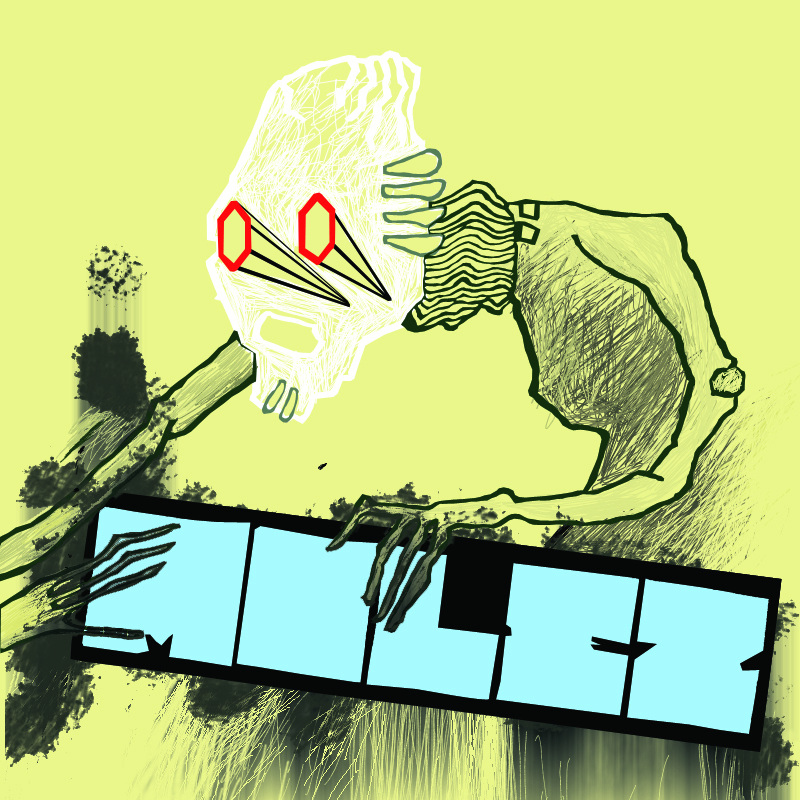 CD cover design for band called MOLEZ, 2008.