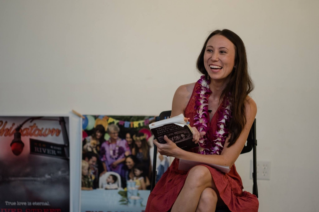 Jana speaking at the Hawaiian Women In Filmmaking event, April 18, 2017.