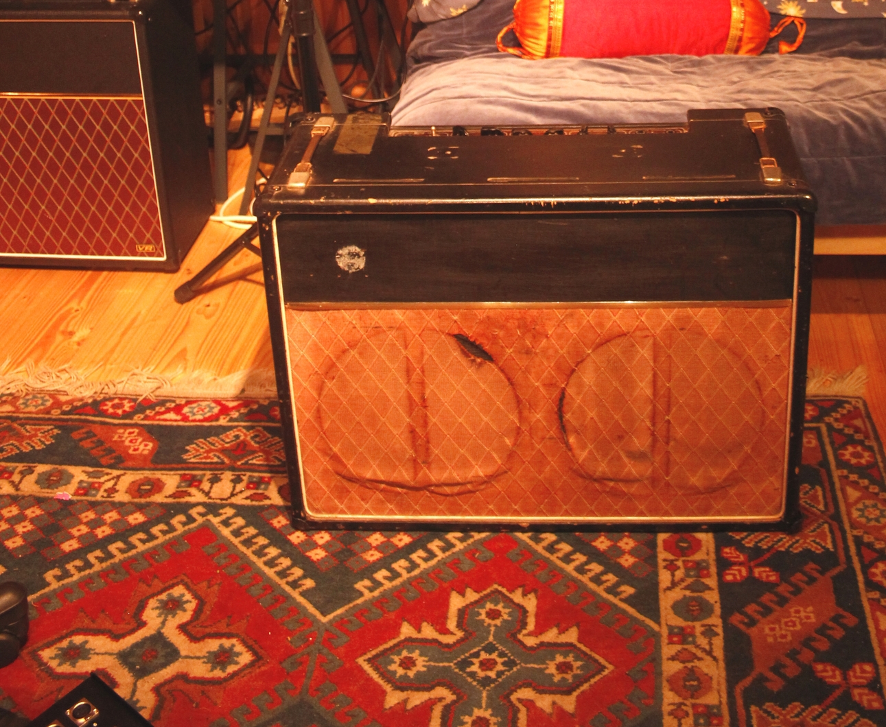 Vox ac15 twin from 1962 with celestion gold. John Lennon used one of these in the early years. My favorite guitar amp.