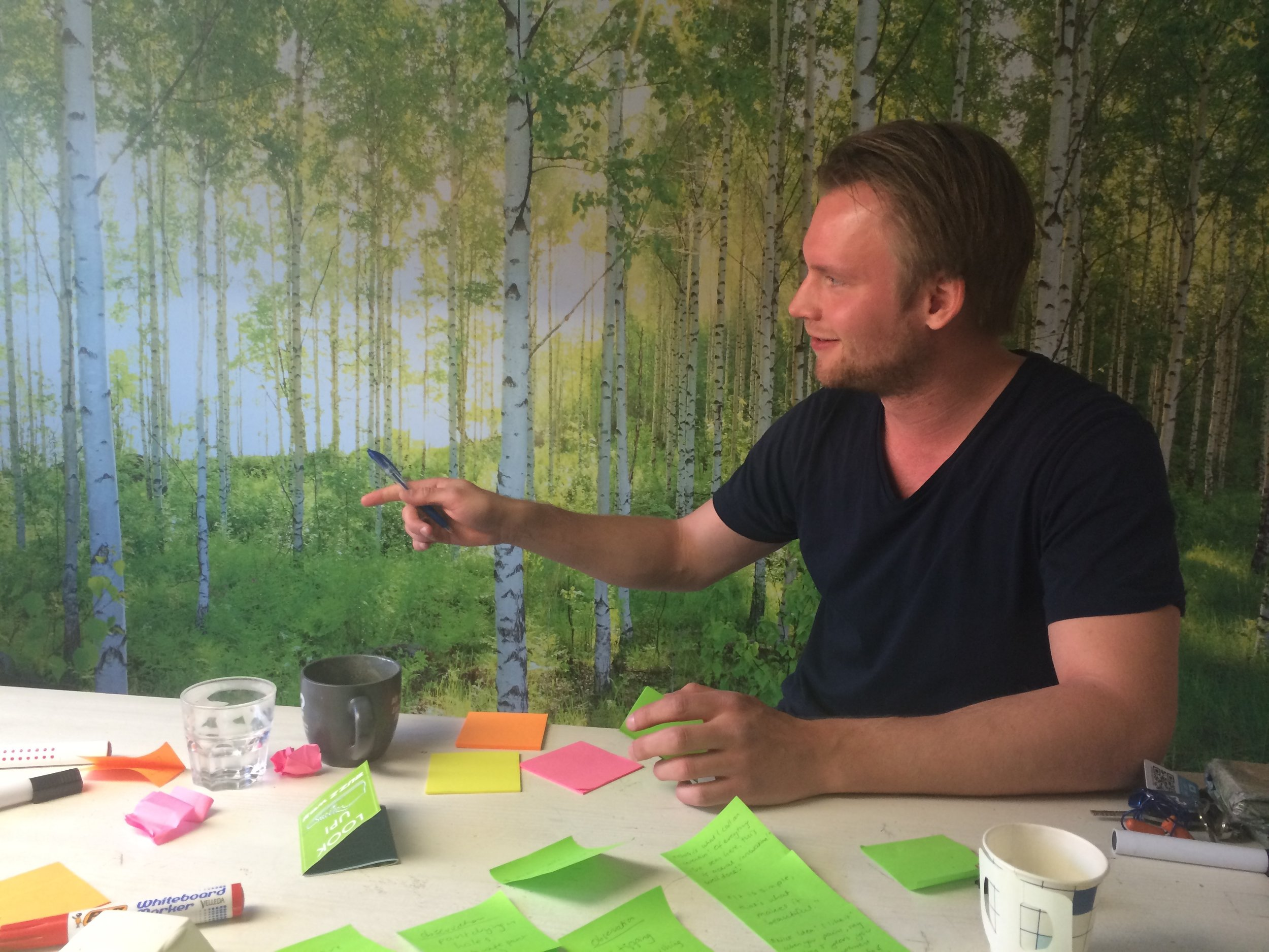 Ideation session at Aalto University, Helsinki