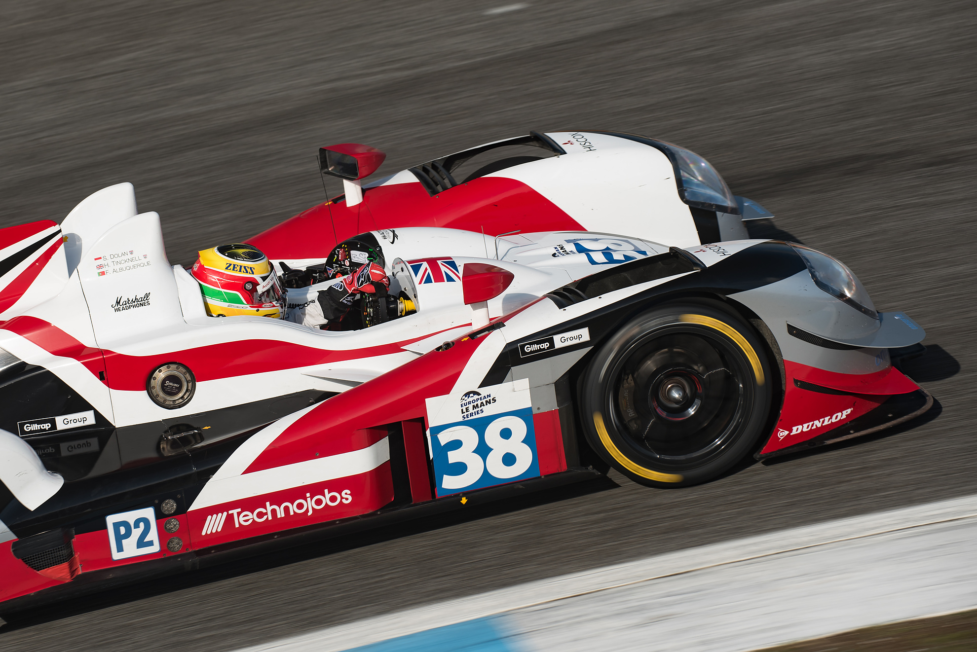 The Gibson 0155 - NISSAN with Filipe Albuquerque   driving for the pole during the 4 Hours of Estoril 2015, last round of the European Le Mans Series.