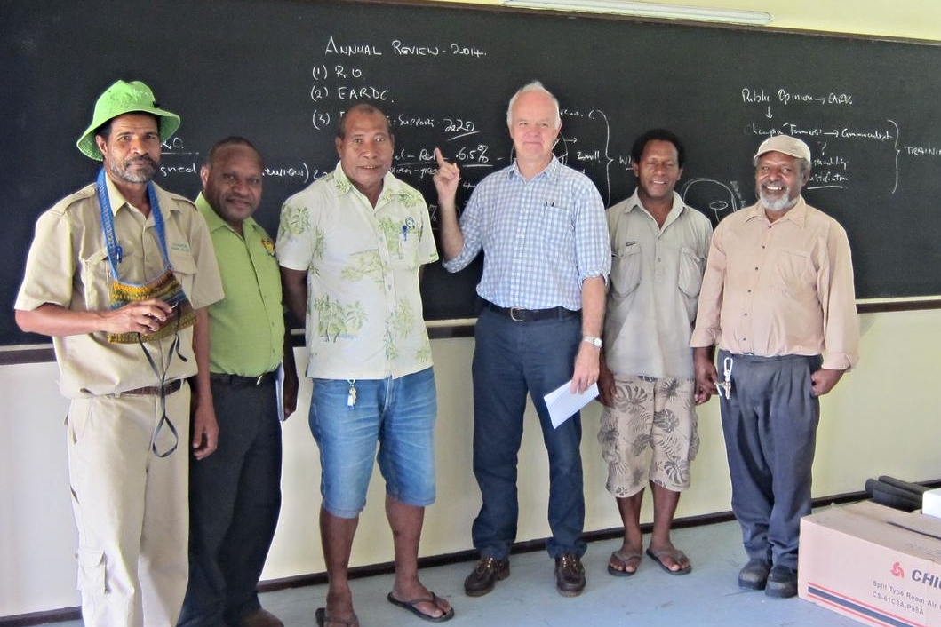 John (centre right) with animal health authorities during an OIE PVS mission in Papua New Guinea