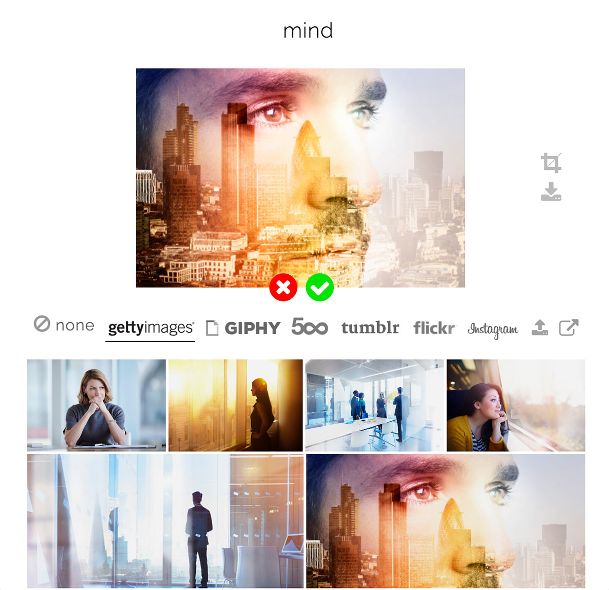 Pop up window allowing you to browse for image inspiration.