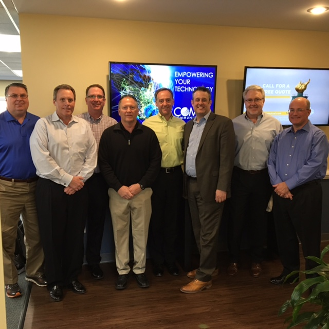 Pictured in this photo: Garry Hopkins - Comtel Sales; Keith Connolly - Windstream Vice President; Boe Miller - Windstream Channel Manager, Greg Huckaby - Windstream Sales Engineer; Pete Kraehmer - Comtel Vice President of Sales; Greg Klein - Windstream Director of Fixed Wireless; , Jim Brooker - Comtel Sales, and Ben Humphreys - Comtel President & CEO