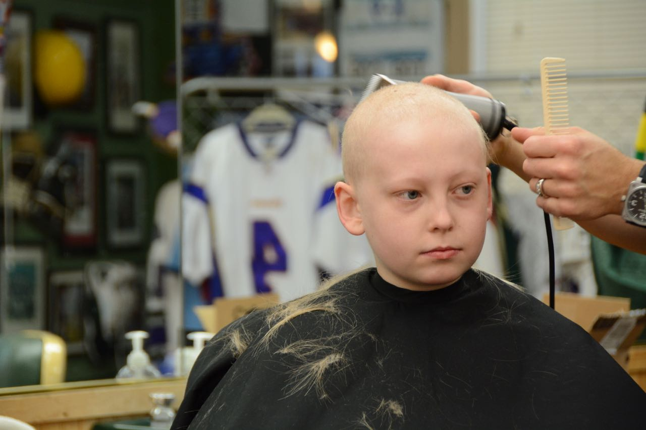 While chemotherapy caused much of his hair due to chemotherapy, he clung to a single tuft that reminded him of his strength and resistance.